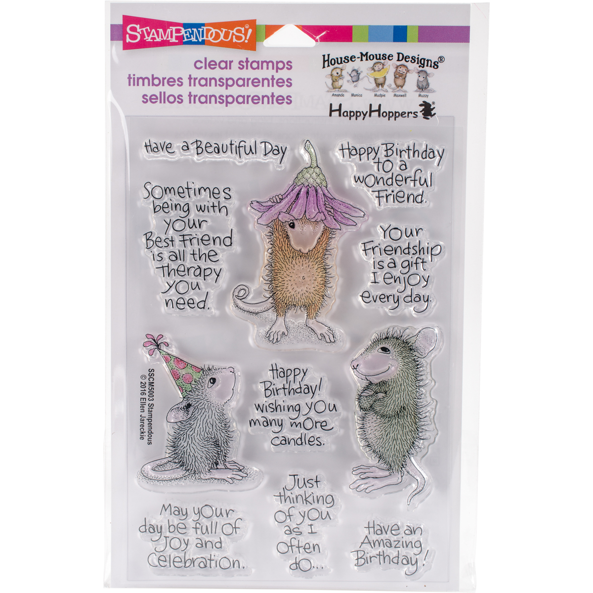 Stampendous Clear Stamps - House Mouse Friend Wishes