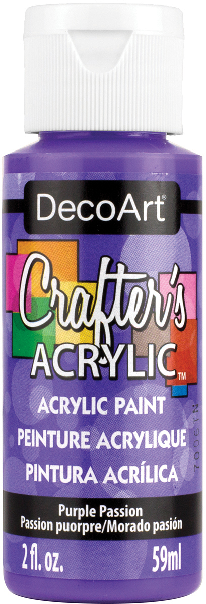 Crafter's Acrylic All-Purpose Paint 2oz-Purple Passion