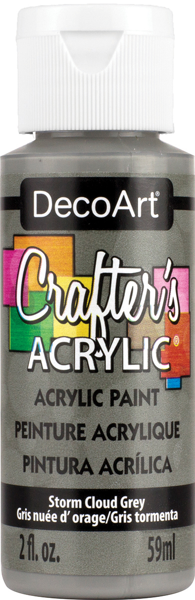 Crafter's Acrylic All-Purpose Paint 2oz-Storm Cloud Grey