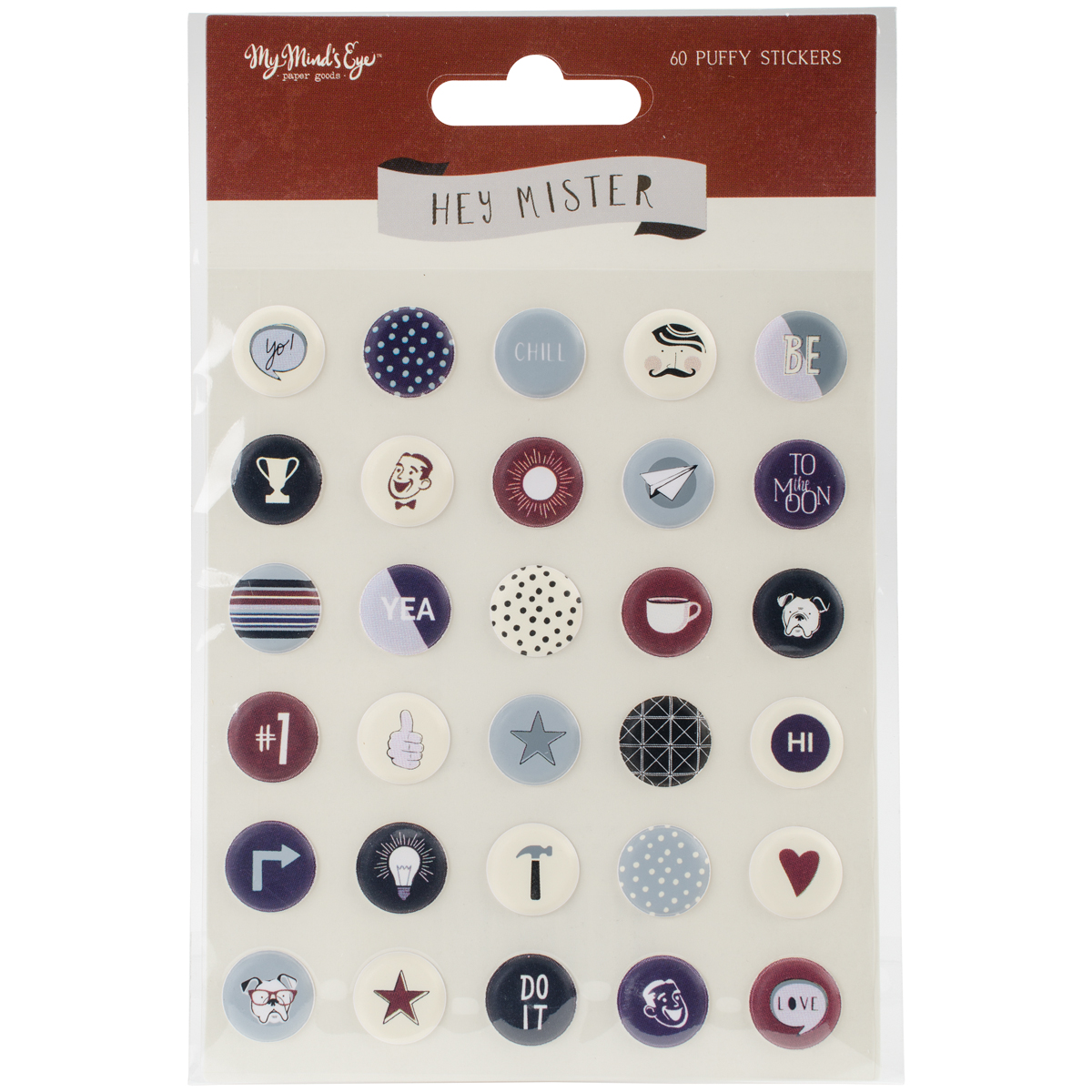 My Minds Eye - Hey Mister Collection - Puffy Stickers