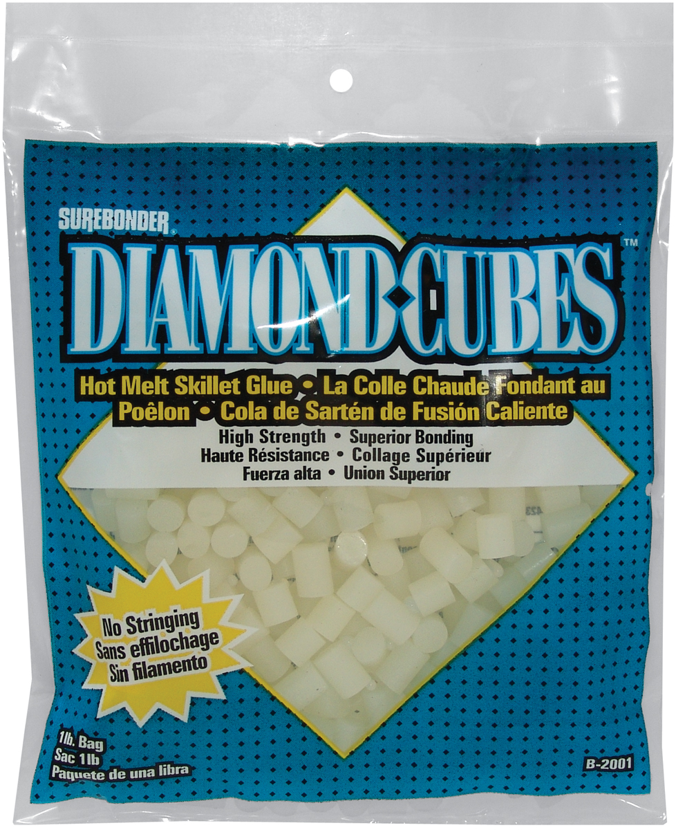 Diamond Cubes Hot Melt Skillet Glue - Colle chaude fondant au poêlon