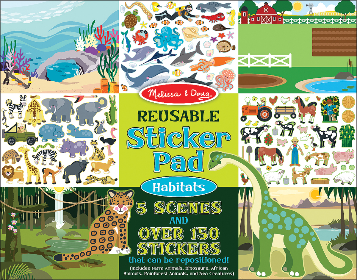 HABITATS  -REUSABLE STICKER PAD