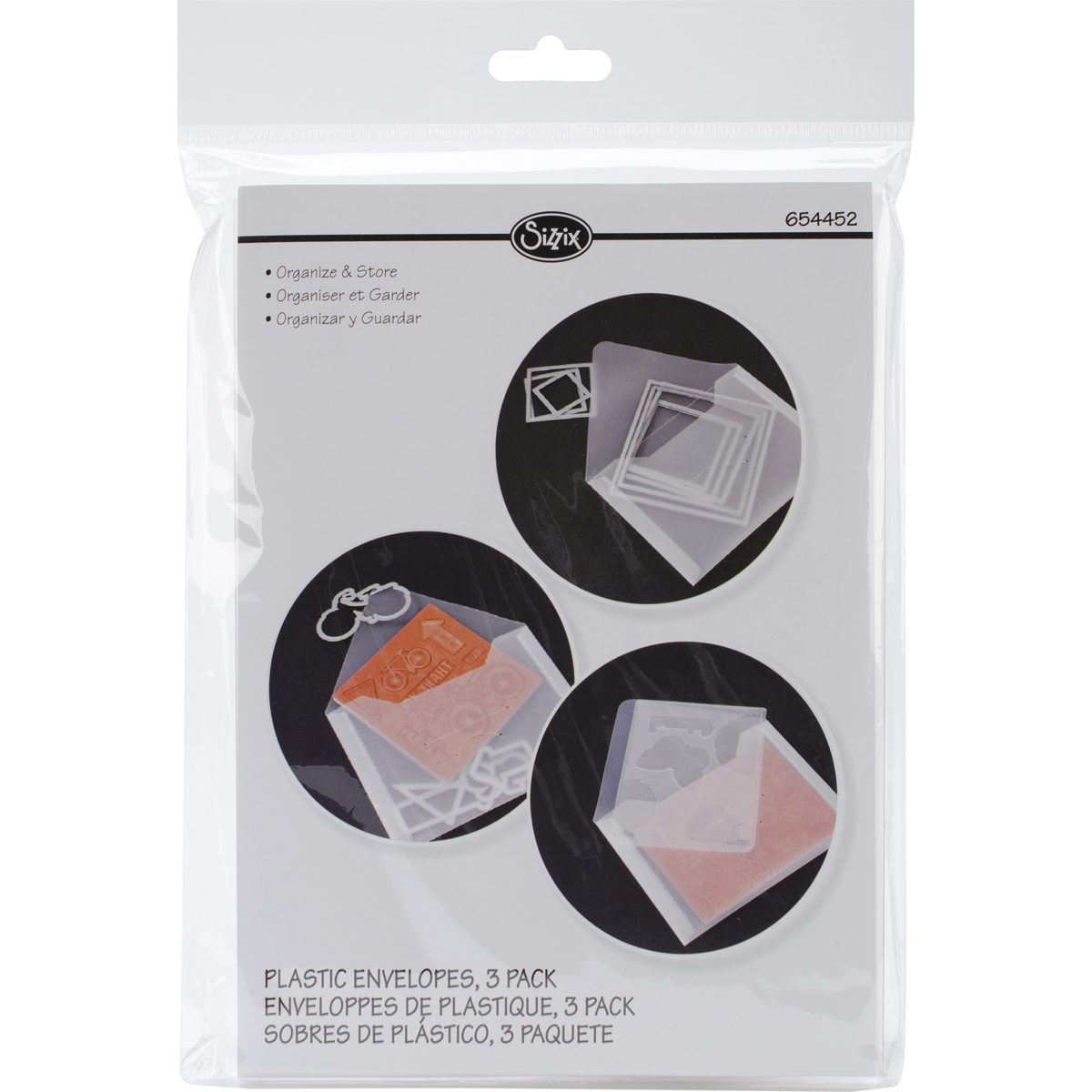 Sizzix Plastic Envelopes 3/Pkg