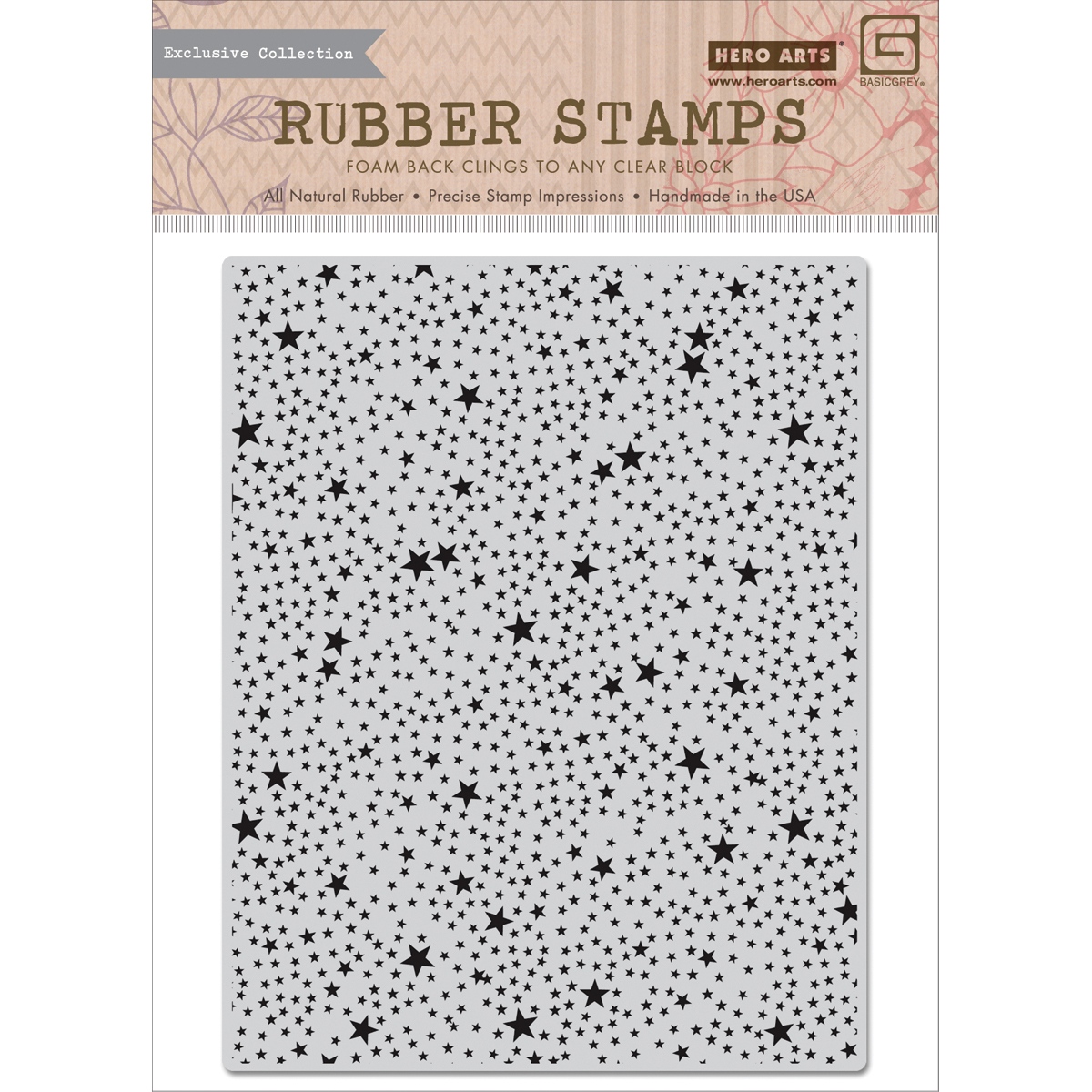 Basic Grey RSVP Cling Stamps By Hero Arts-Tiny Star Background