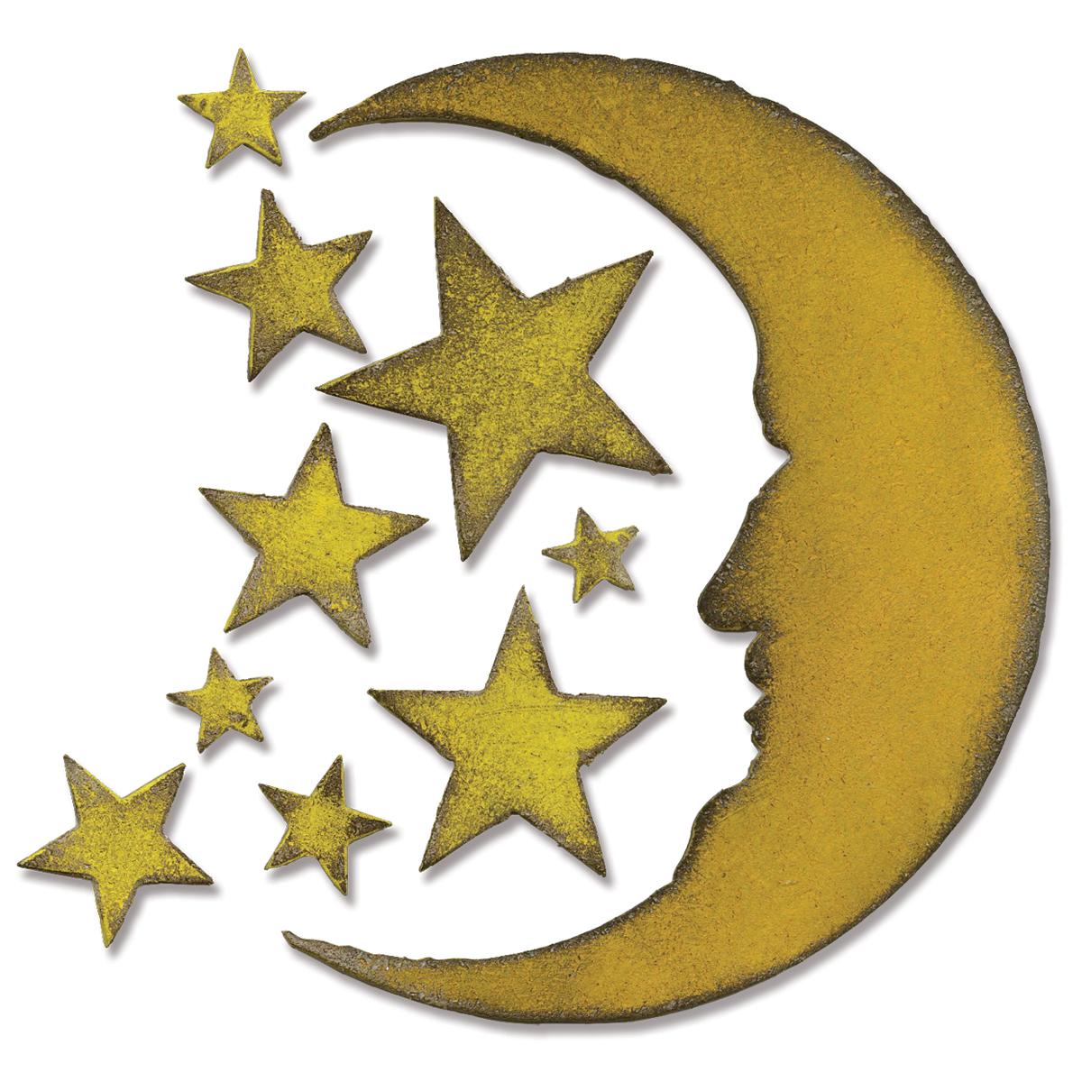 DIE - CRESCENT MOON & STARS