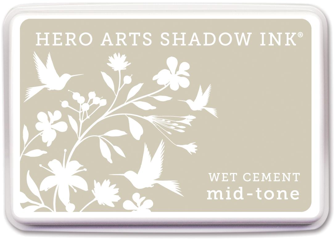 Hero Arts Midtone Shadow Ink Pad-Wet Cement