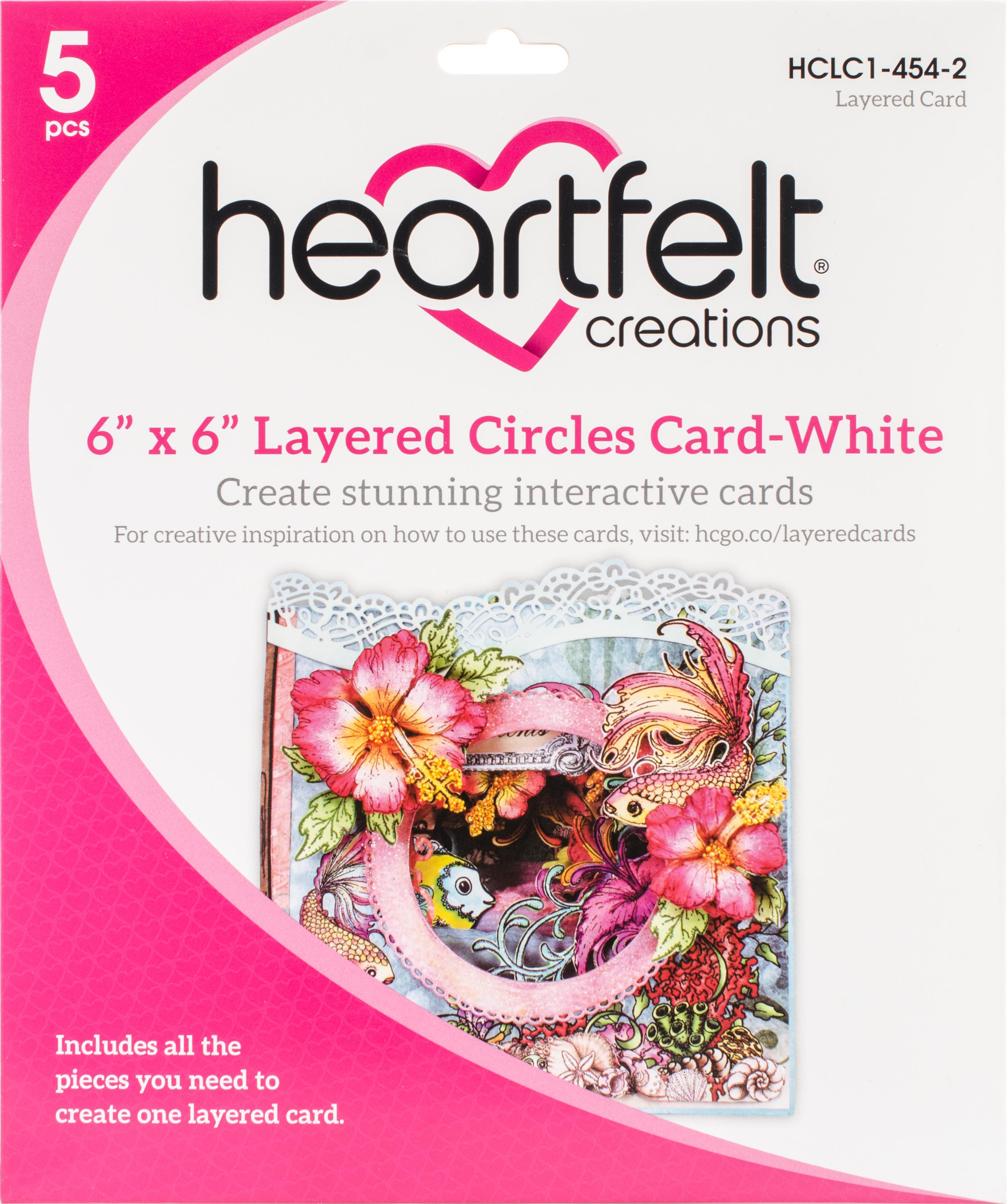 Layered Circles Card 6x6 White