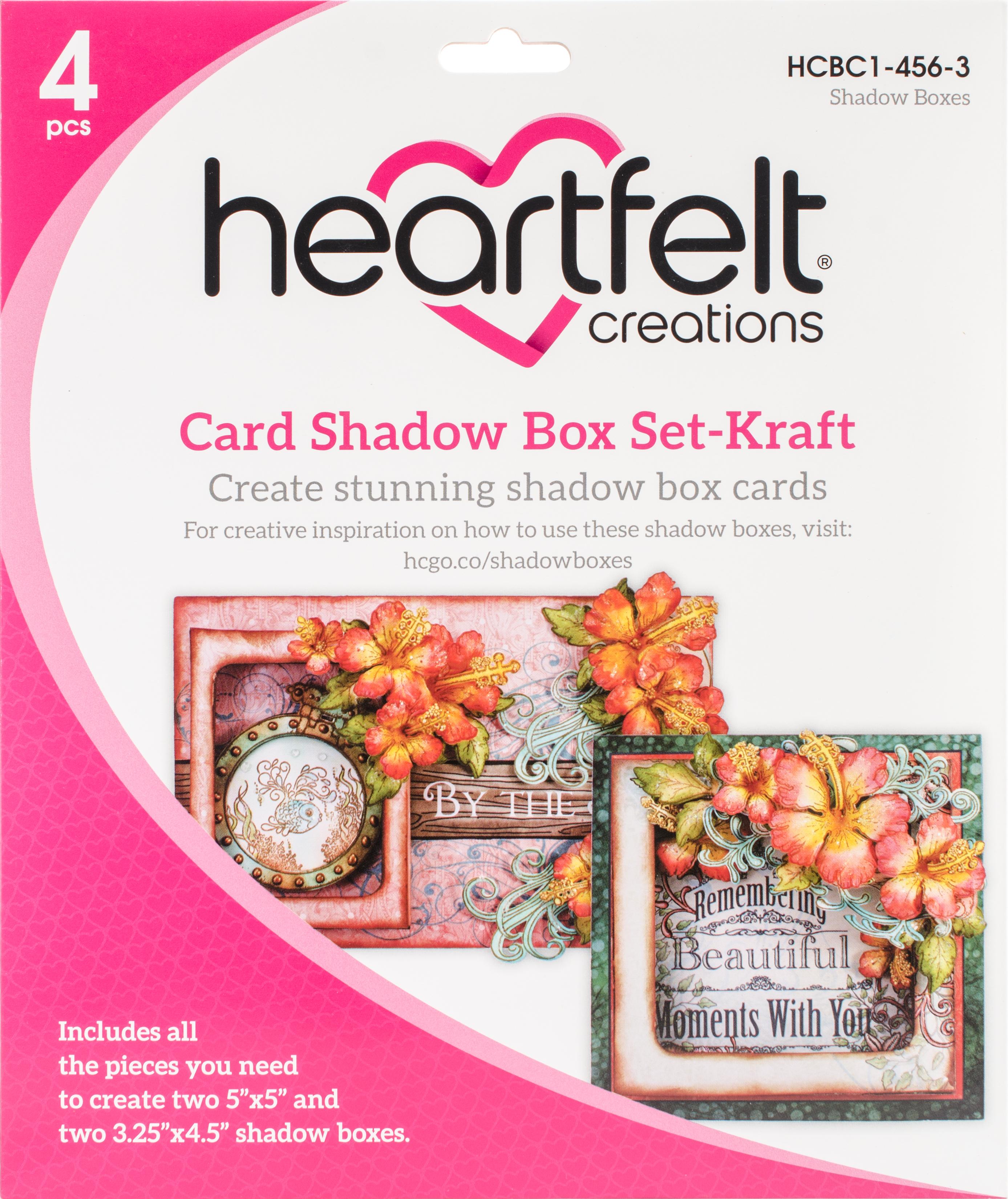 Heartfelt Creations Card Shadow Box Set 2/Pkg-Kraft