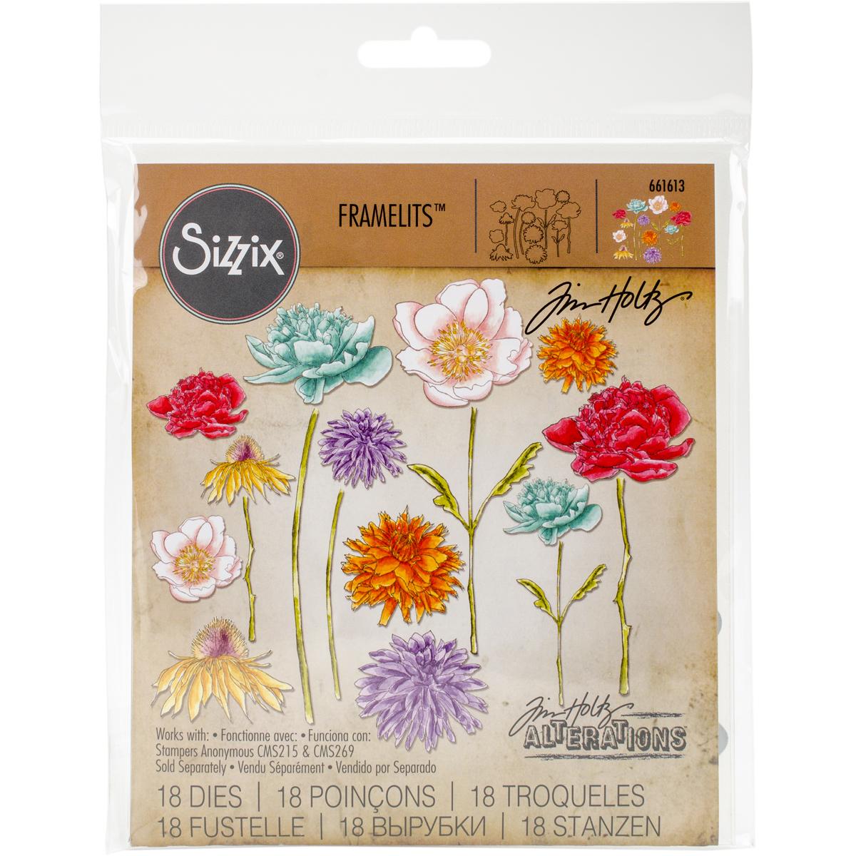 Sizzix Framelits Dies By Tim Holtz-Flower Garden & Mini Bouquet