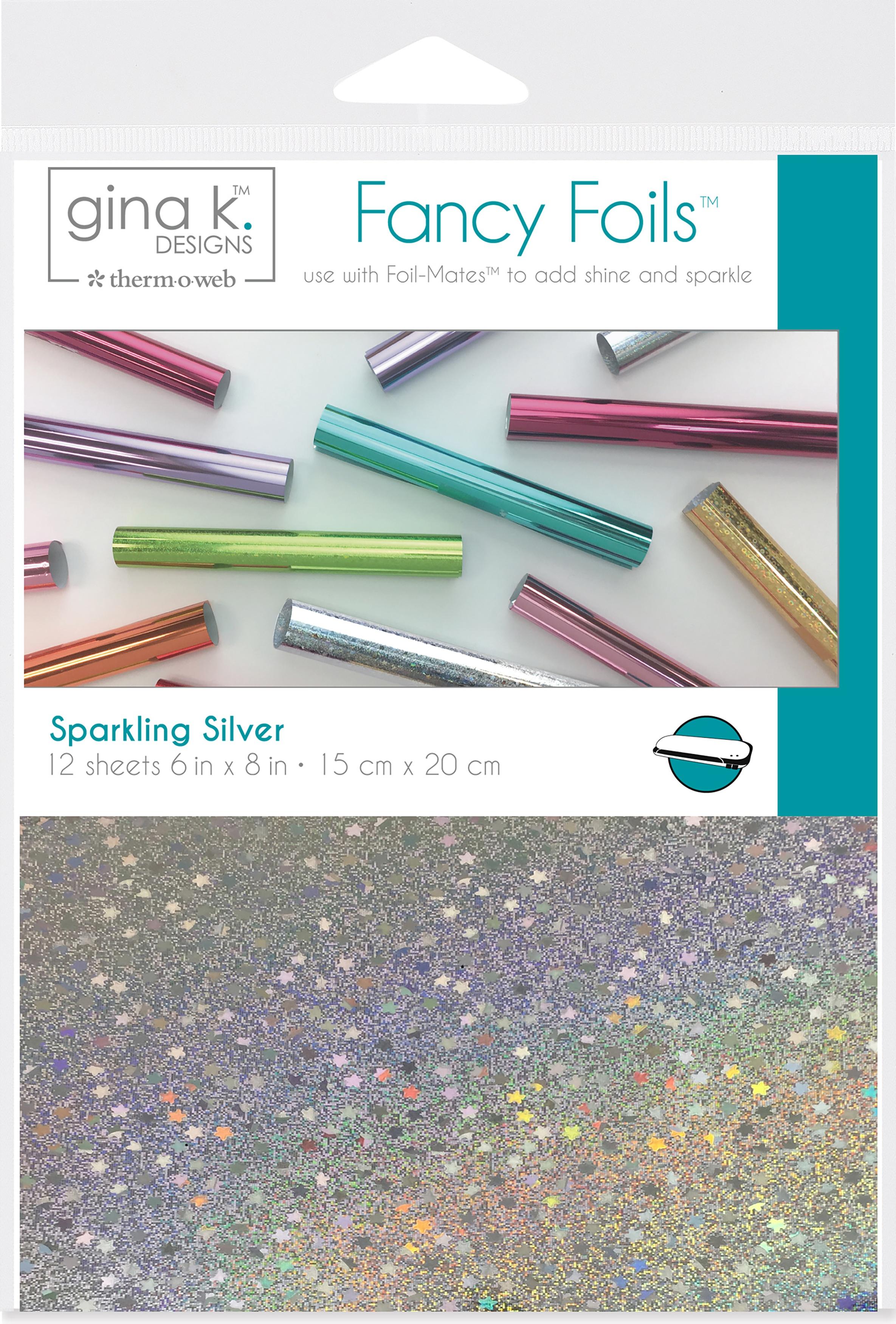 Gina K Designs Fancy Foil 6X8 12/Pkg-Sparkling Silver