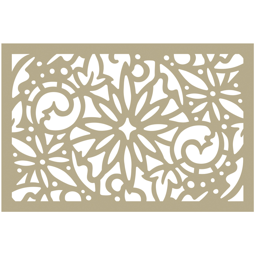 Couture Creations Be Merry Stencil 4X6-Christmas Damask