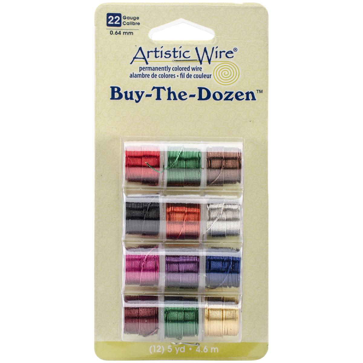 Artistic Wire Buy-The-Dozen 5yd 12/Pkg-22 Gauge