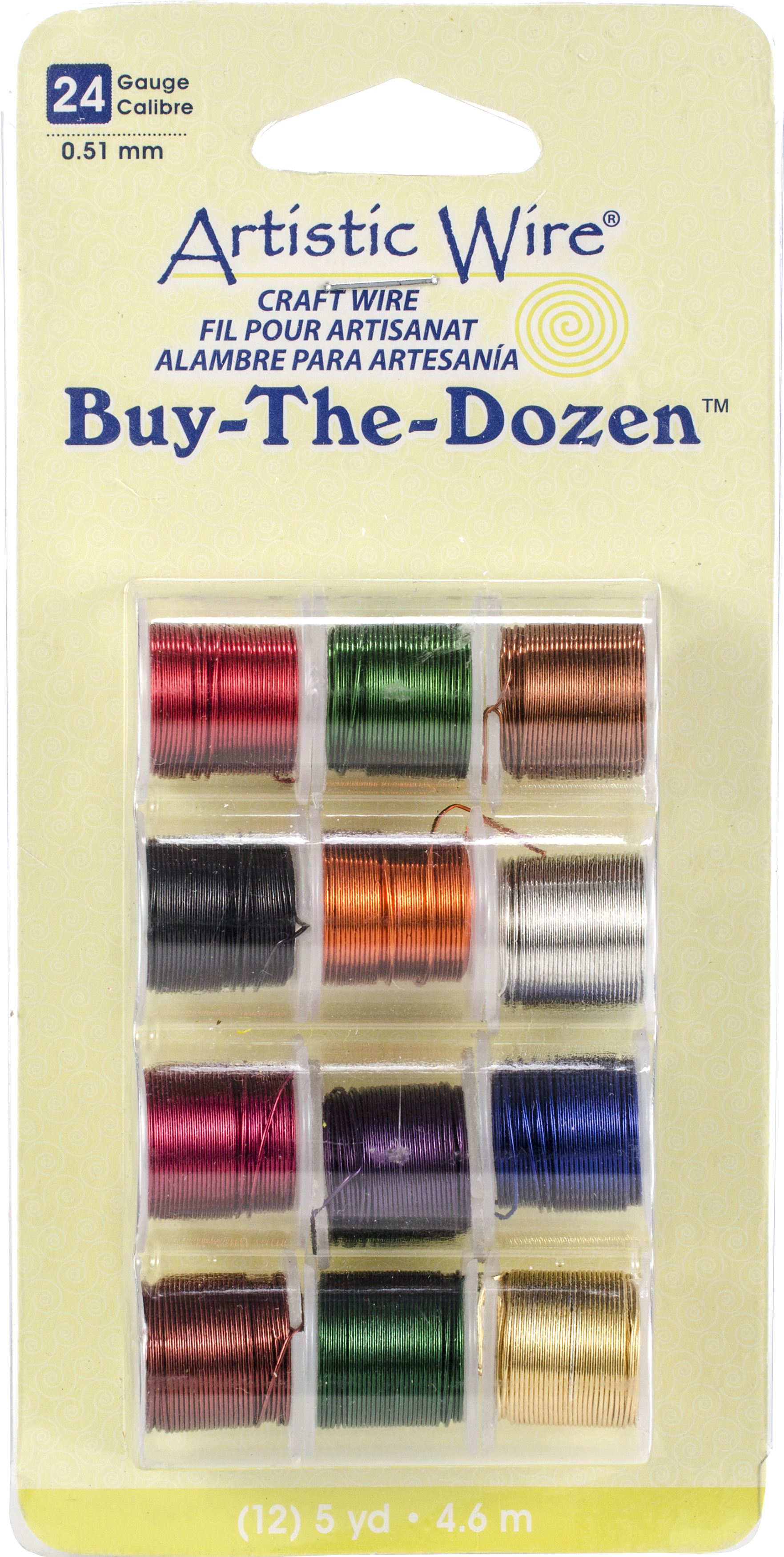 Artistic Wire Buy-The-Dozen 5yd 12/Pkg-24 Gauge