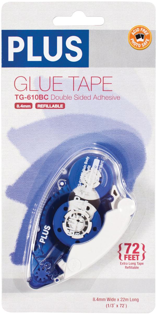 Plus High Capacity Glue Tape Dispenser-.33X72'