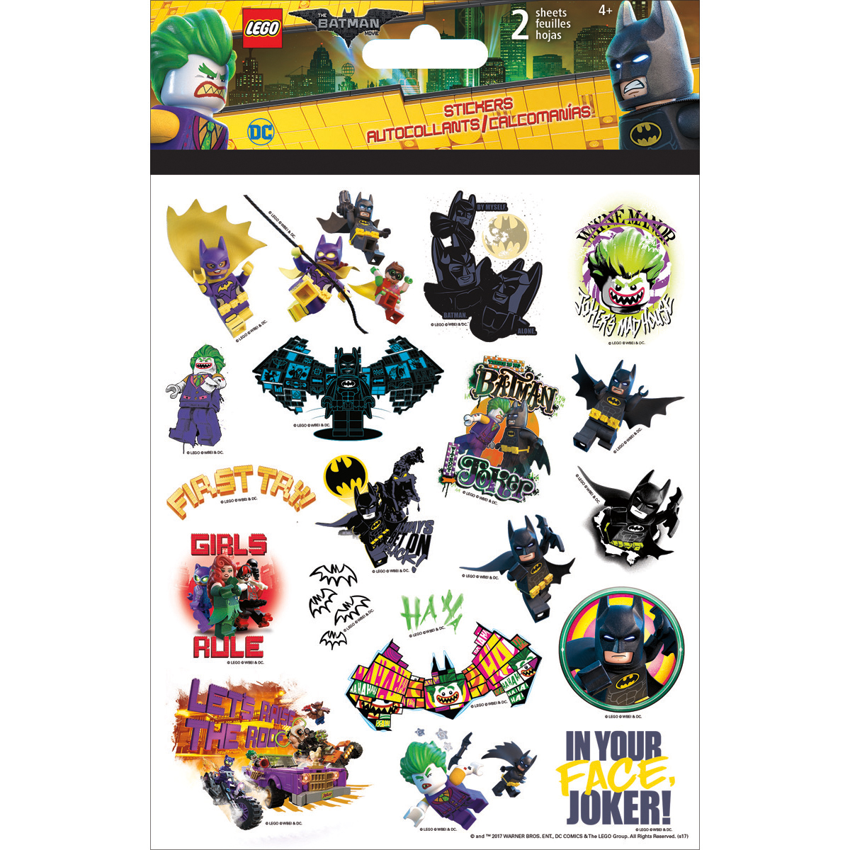 Batman Folderover Lego Stickers