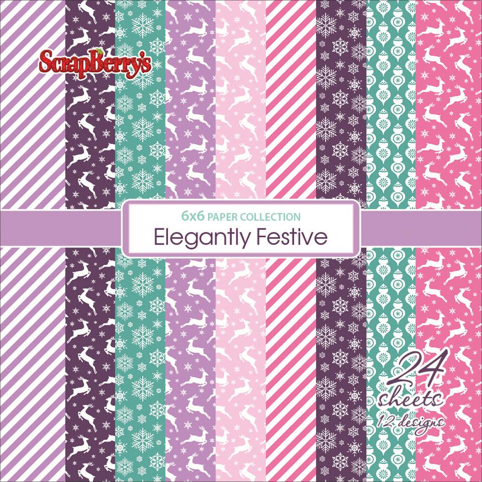 ScrapBerry's Elegantly Festive Paper Pack 6X6 24/Pkg-12 Single-Sided Designs/2 Each