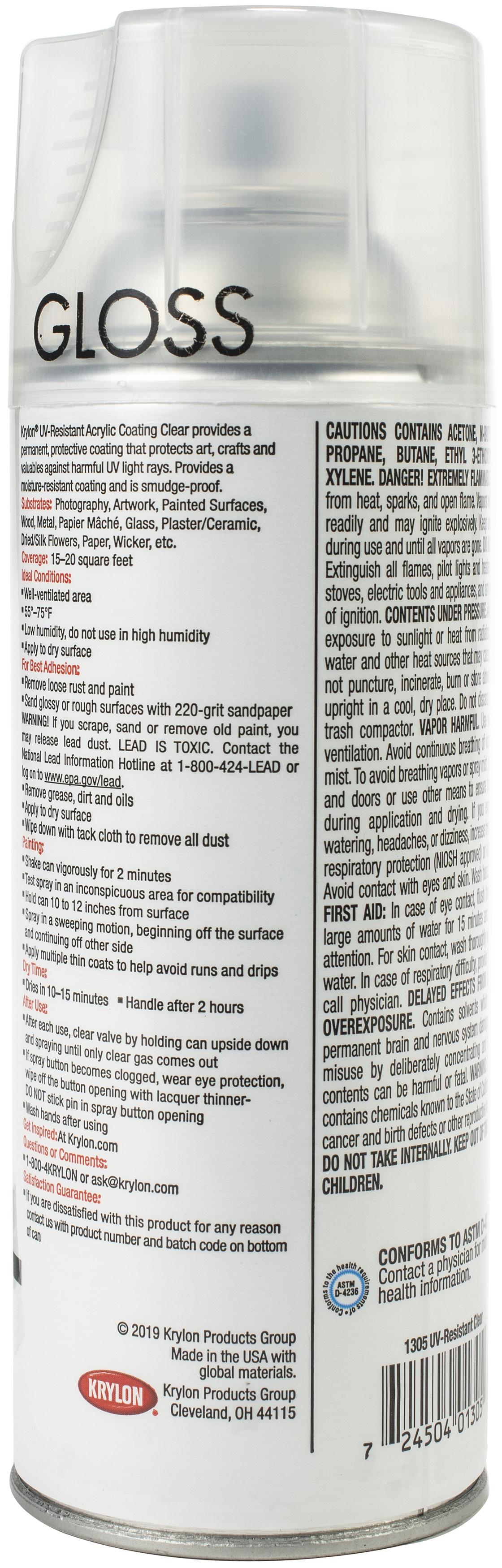 UV-Resistant Acrylic Coating Aerosol Spray 11oz-Clear
