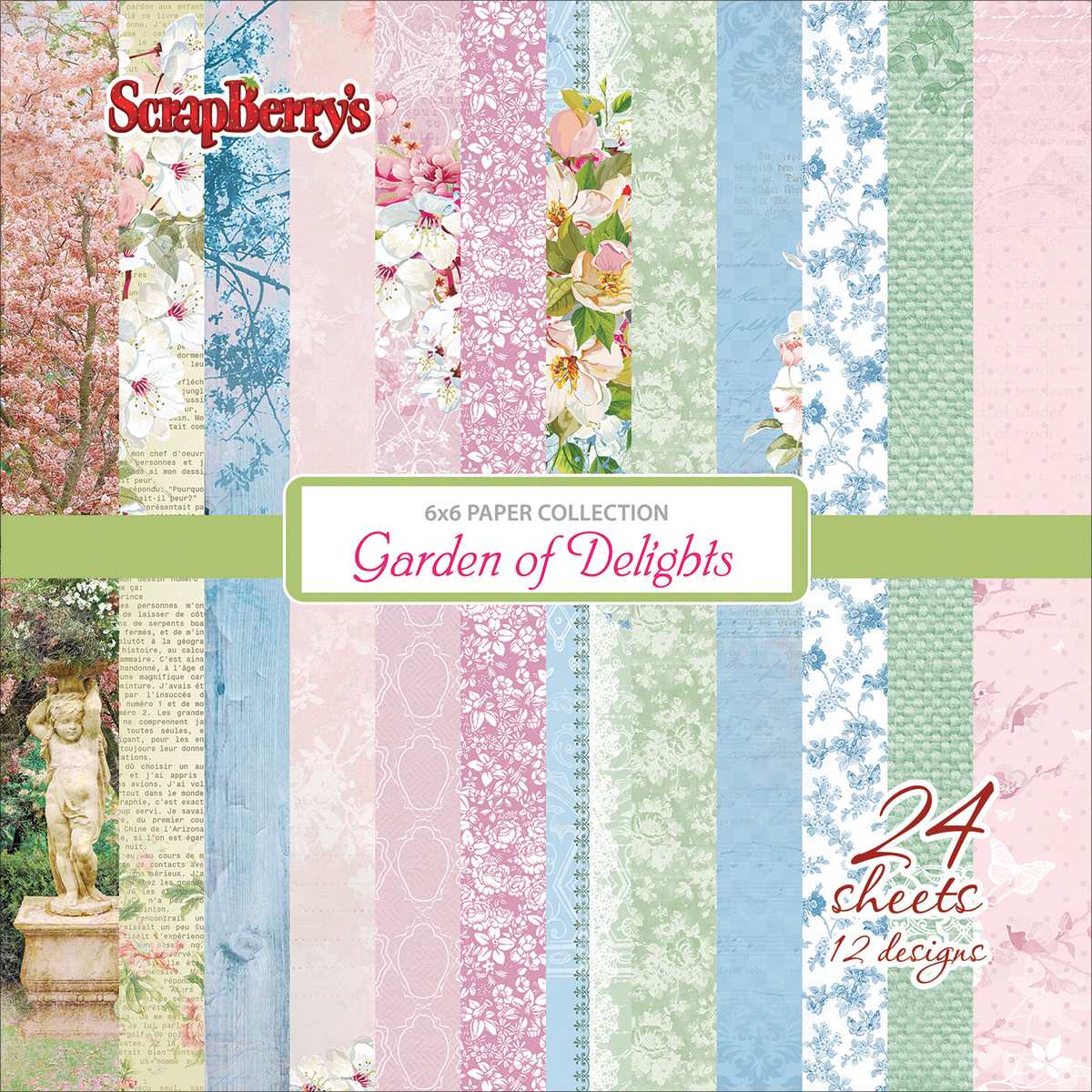 ScrapBerry's Garden Of Delights Paper Pack 6X6 24/Pkg-12 Single-Sided Designs/2 Each