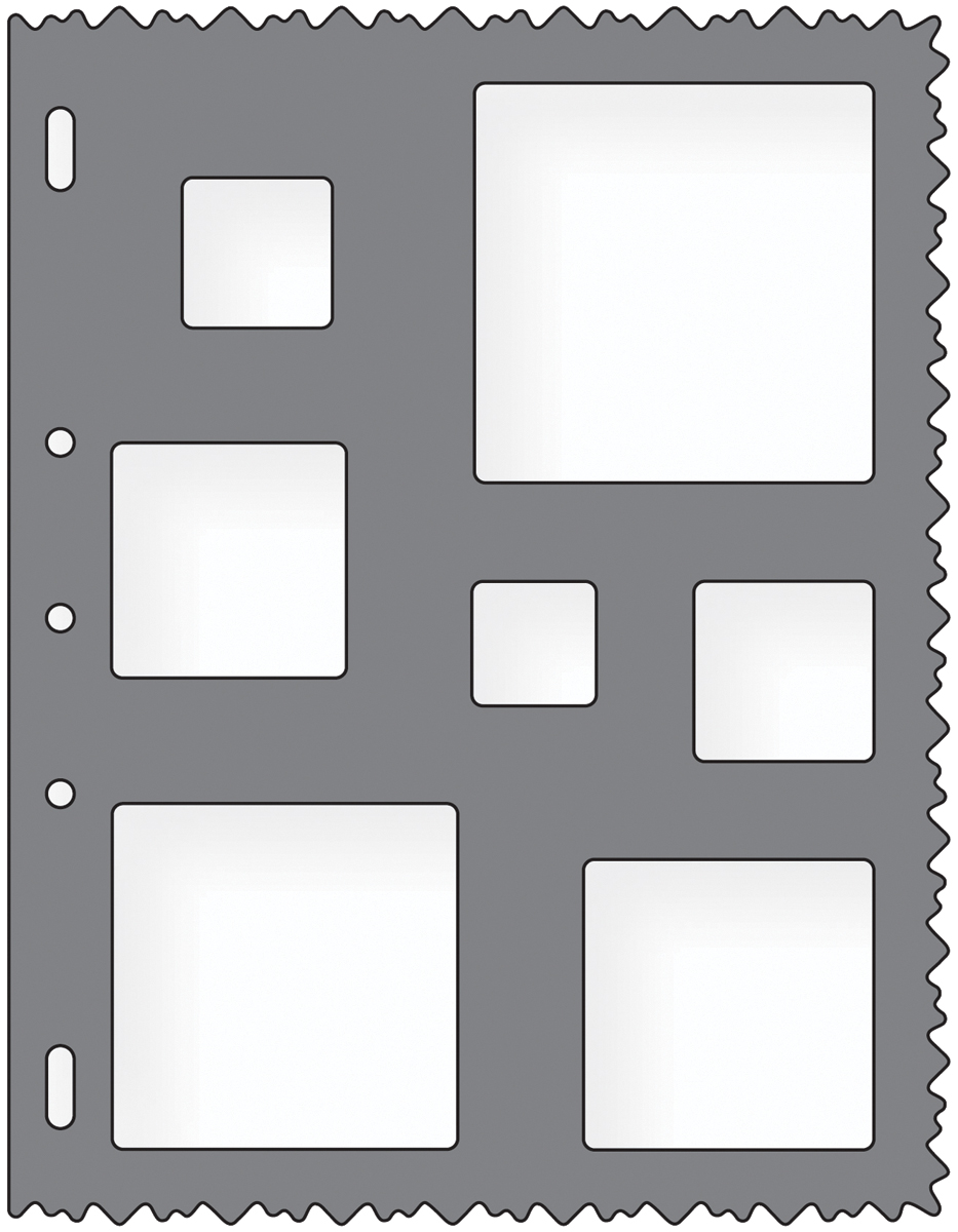 Shape Template 8.5X11-Squares