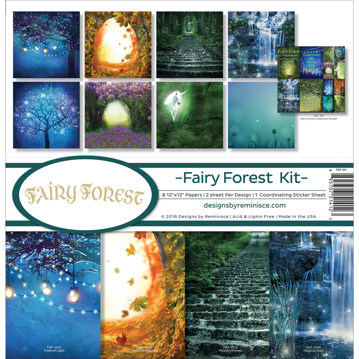 Reminisce Collection Kit 12'x12' - Fairy Forest W/Fireflies & Unicorn