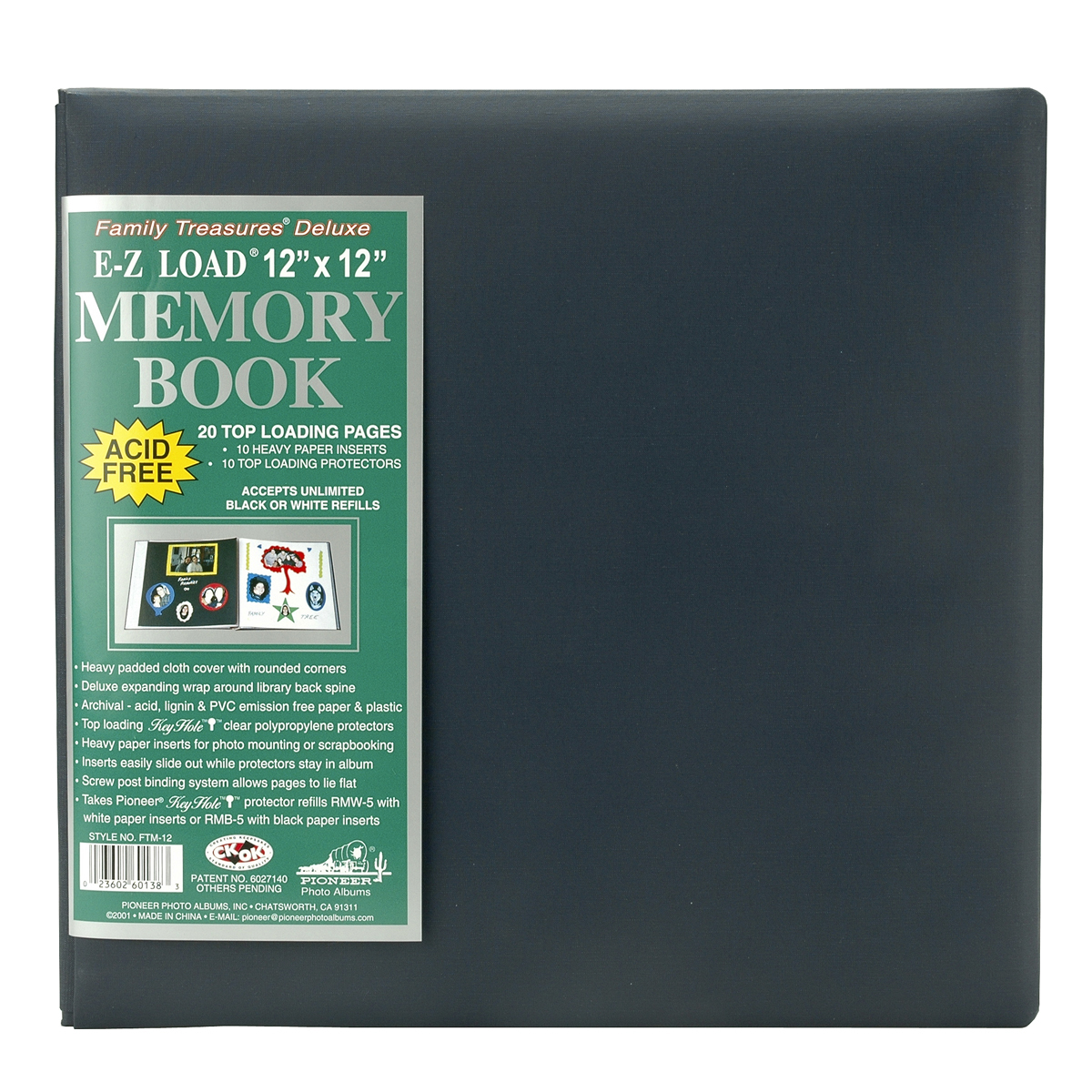 Pioneer MIDNITE BLUE-MEMORY BOOK FAMILY 12x12