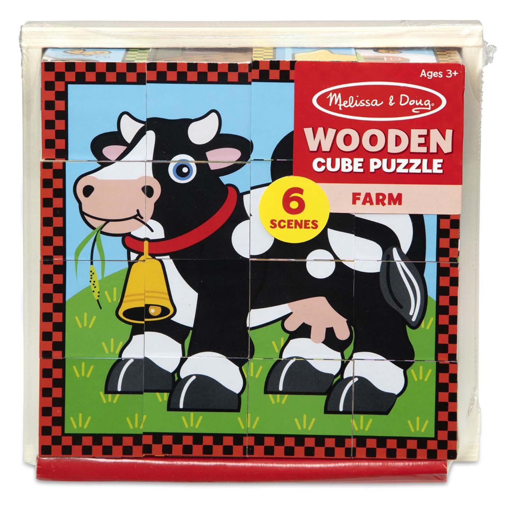 Jigsaw Puzzle 16pcs 8X8-Farm