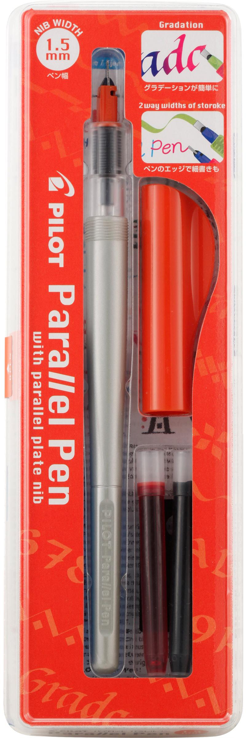 Pilot Parallel Calligraphy Pen Set 1.5mm Nib-Black & Red Ink