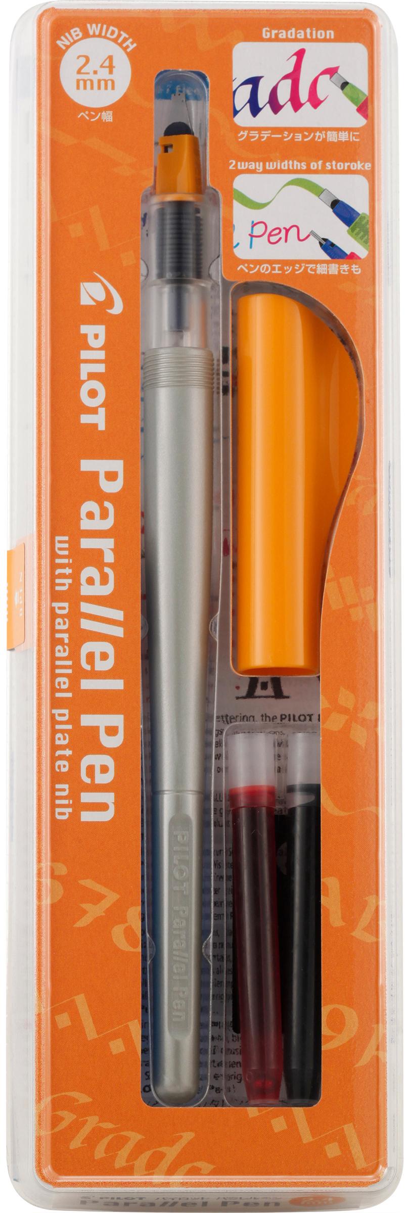 Pilot Parallel Calligraphy Pen Set 2.4mm Nib-Black & Red Ink