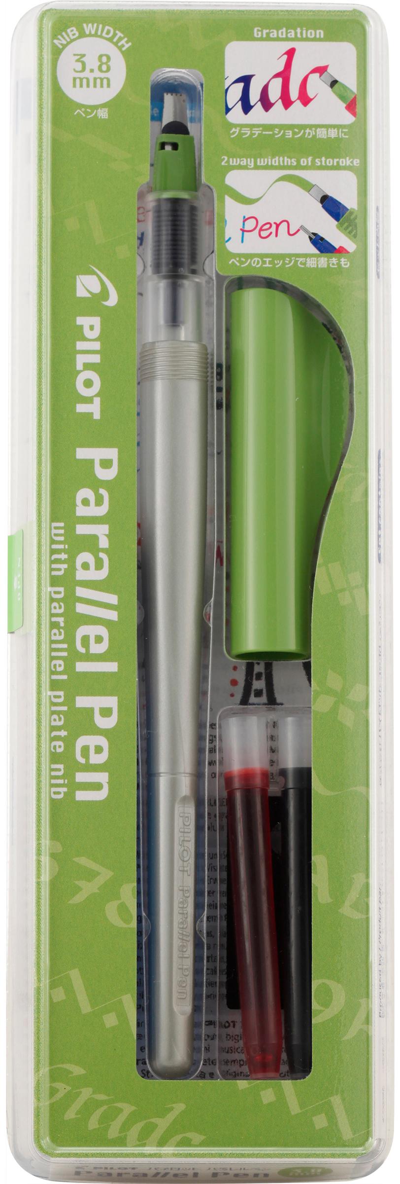 Pilot Parallel Calligraphy Pen Set 3.8mm Nib-Black & Red Ink