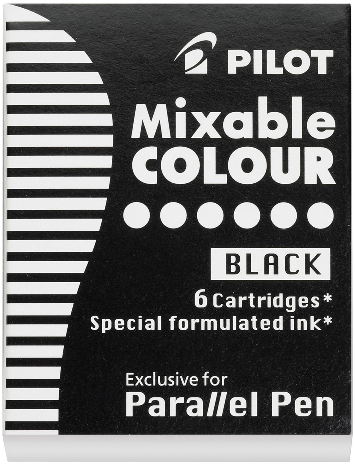 Pilot Parallel Refill Cartridge 6/Pkg-Black Ink