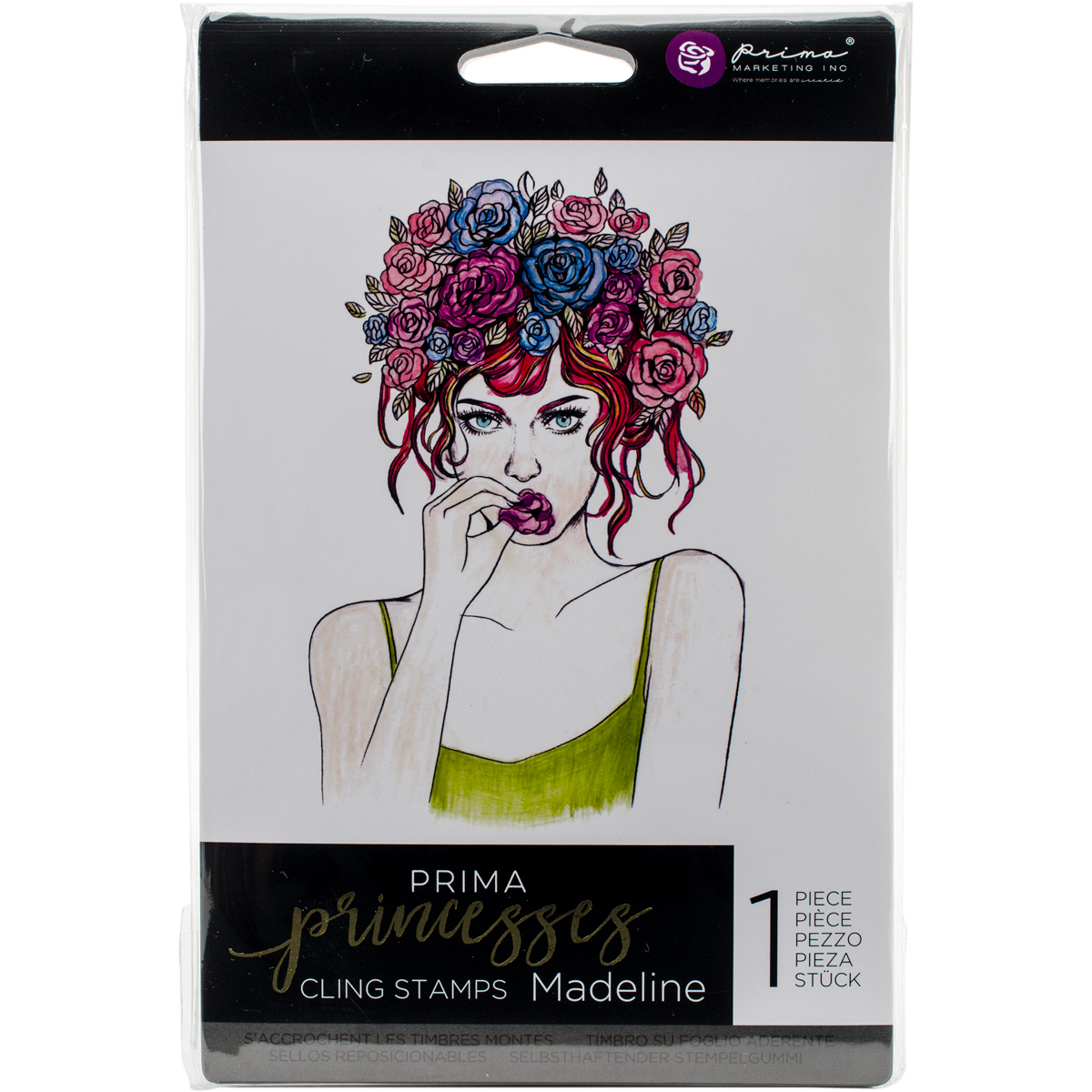 Prima Marketing Princesses Cling Stamp 5X7-Madeline