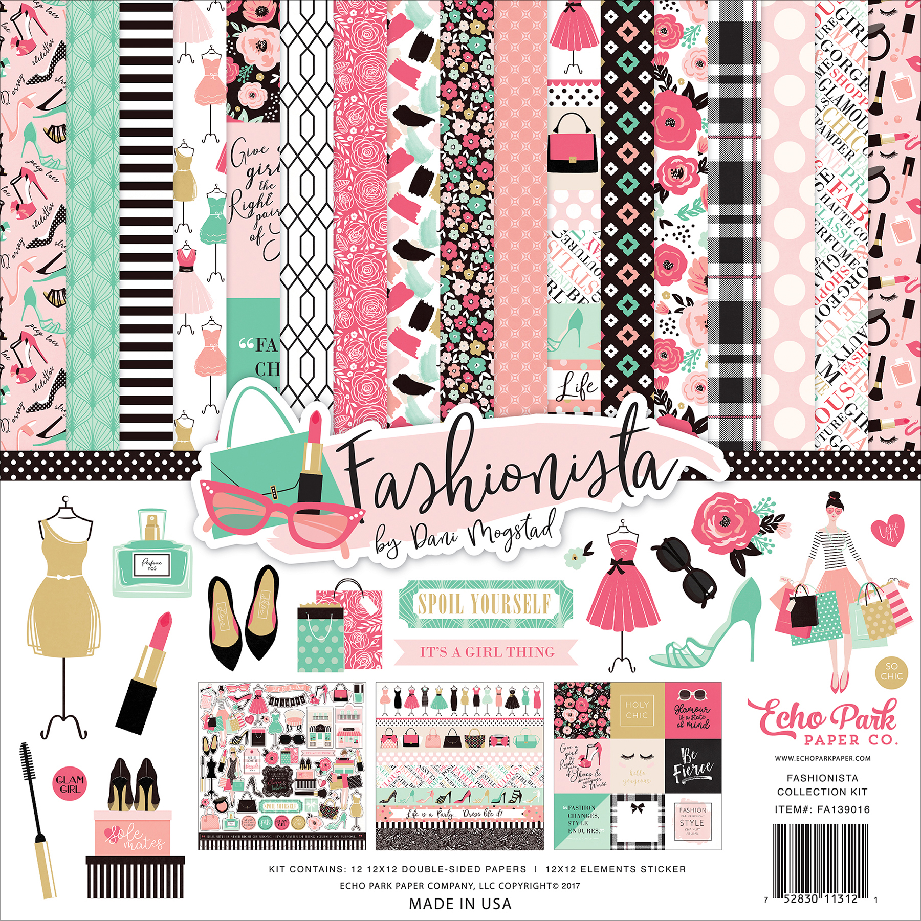 Echo Park Collection Kit 12X12-Fashionista