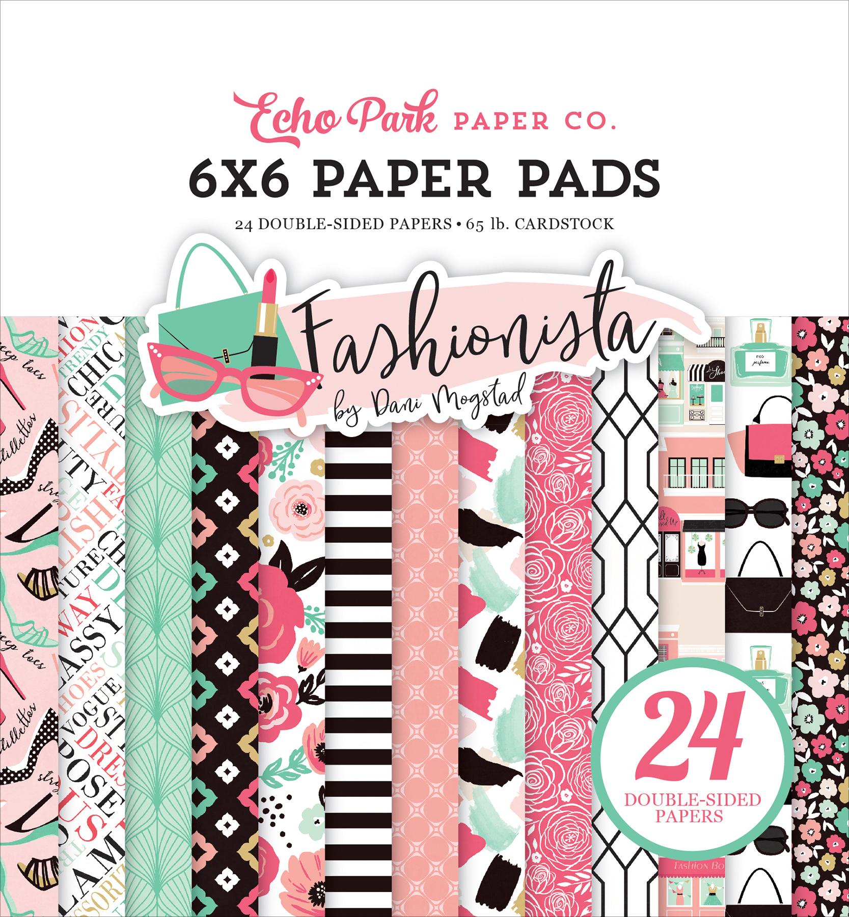 Echo Park Double-Sided Paper Pad 6X6 24/Pkg-Fashionista, 12 Designs/2 Each