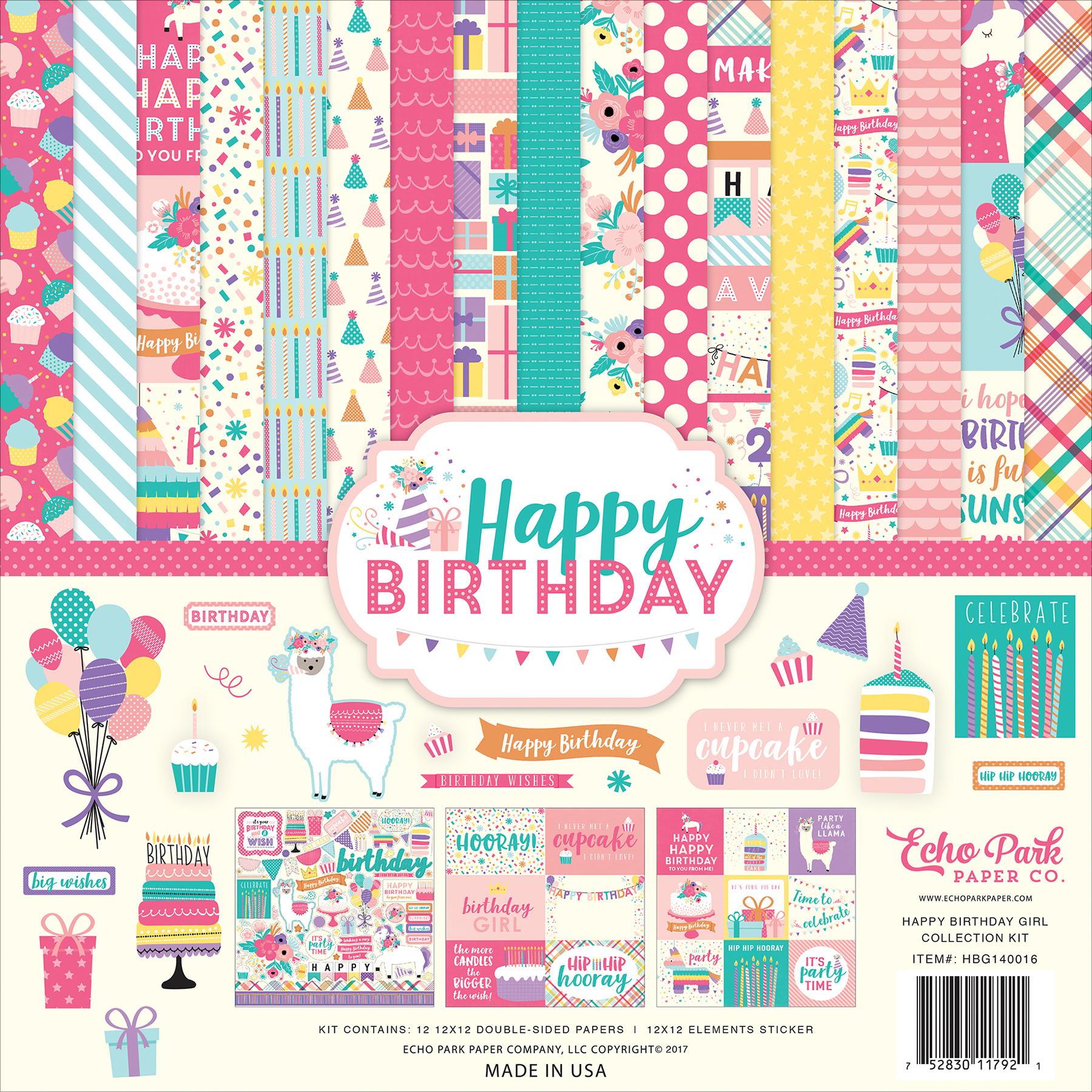 Happy Birthday Girl - Echo Park Collection Kit 12X12