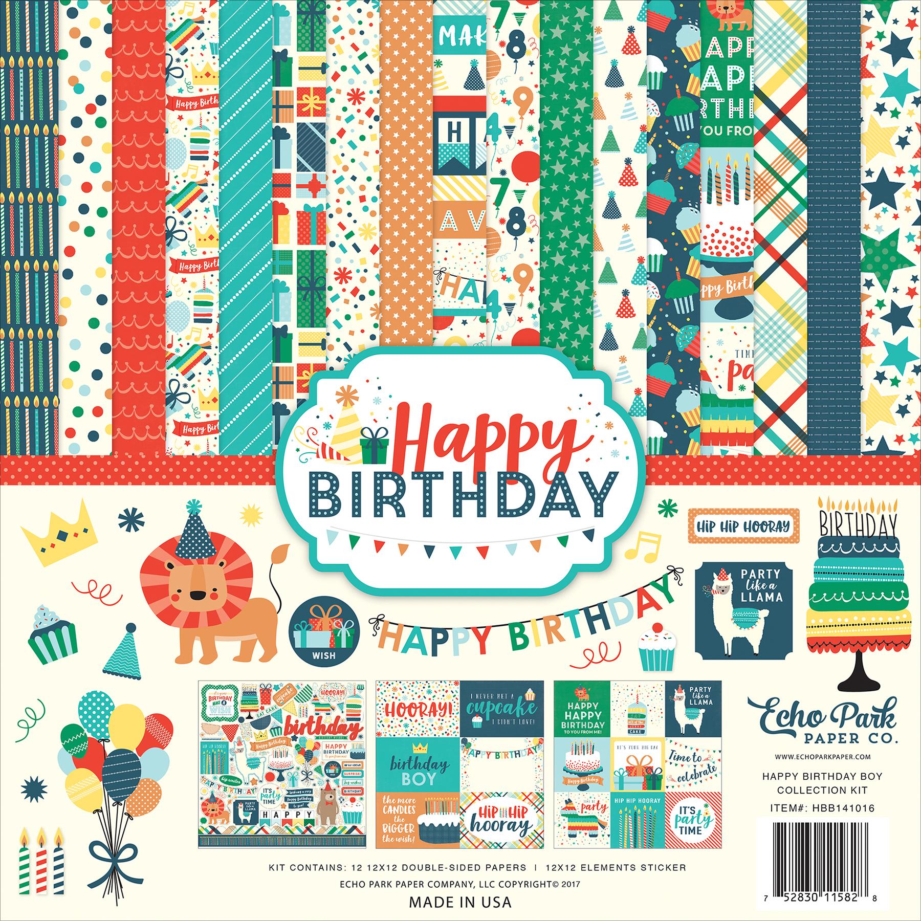 Echo Park Collection Kit 12X12-Happy Birthday Boy