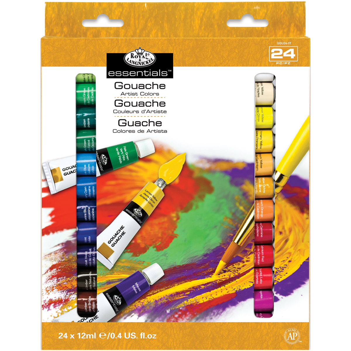Essentials Gouache Artist Colors / 24 pieces