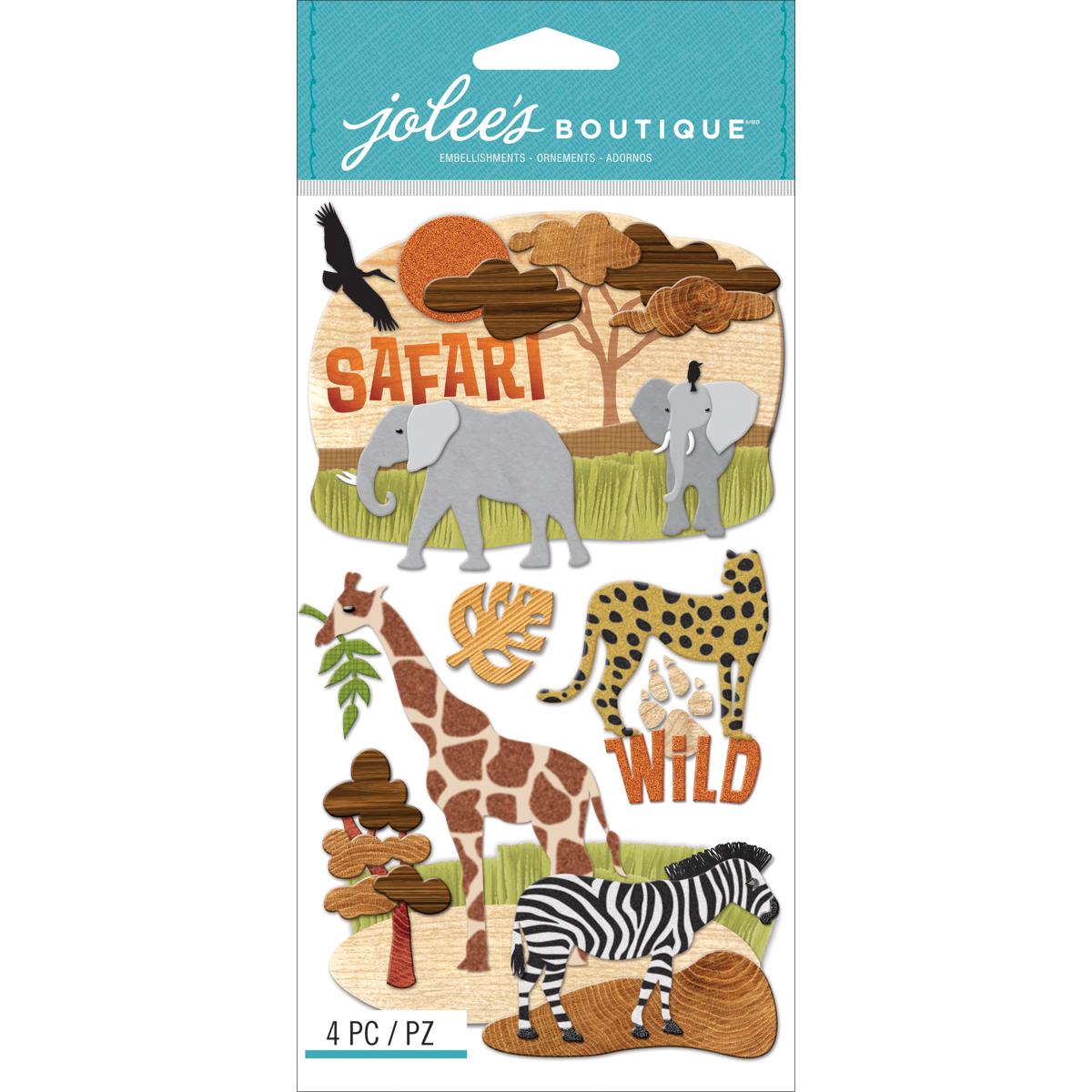 Jolee's Le Grande Dimensional Stickers-Safari
