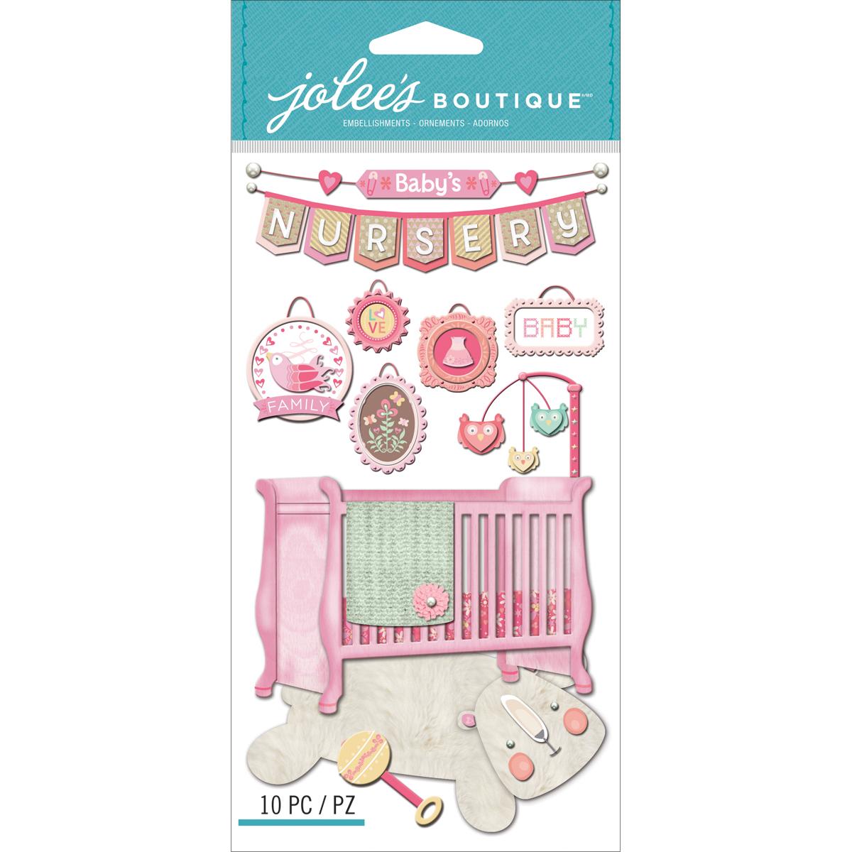 Jolee's Le Grande Dimensional Stickers - Baby Girl, Nursery