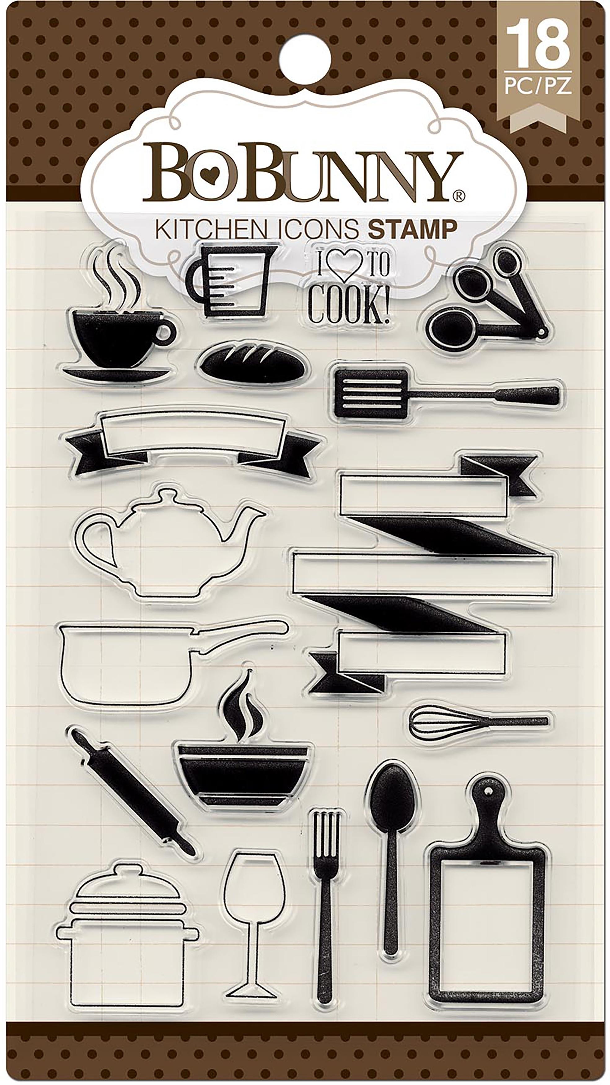 BoBunny Stamps-Kitchen Icons