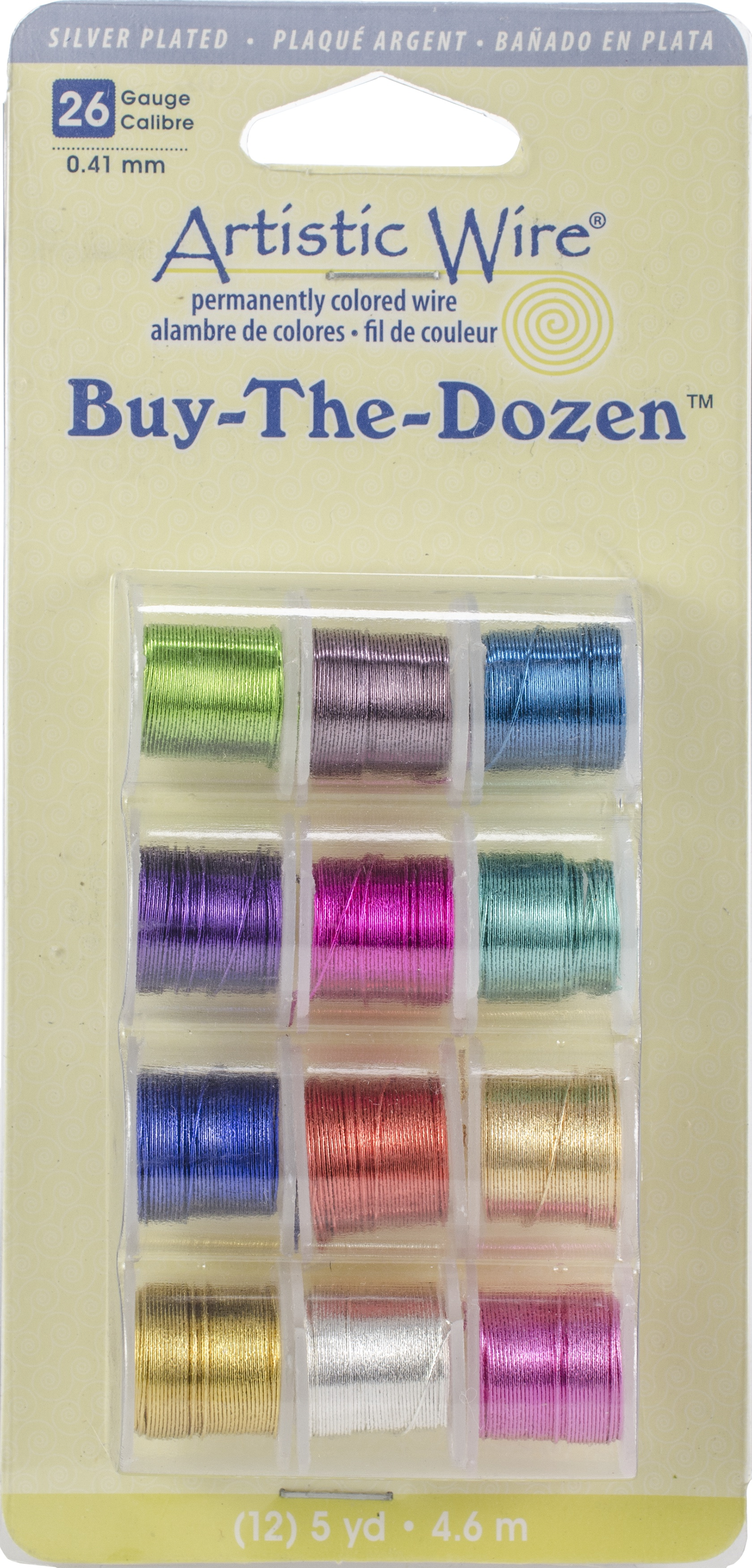 Artistic Wire Buy-The-Dozen Silver-Plated 5yd 12/Pkg-26 Gauge