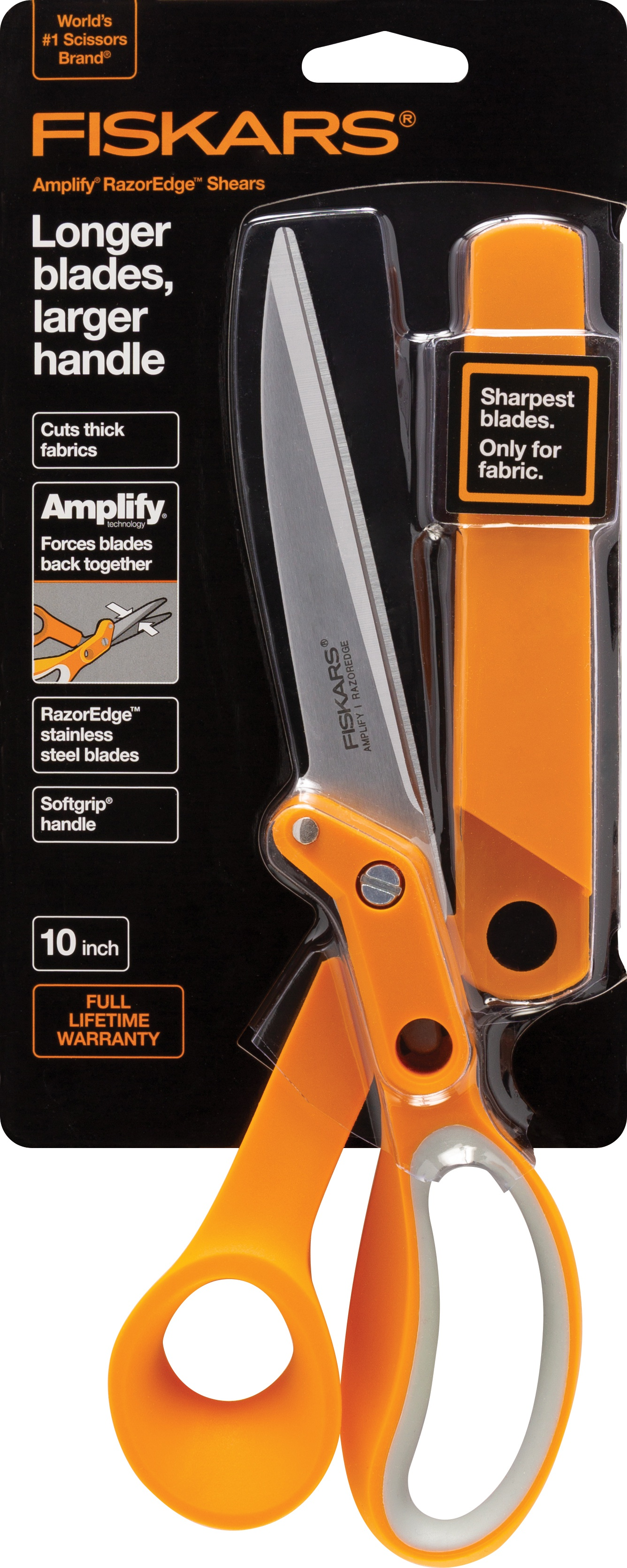Fiskars Amplify RazorEdge Fabric Scissors 10-