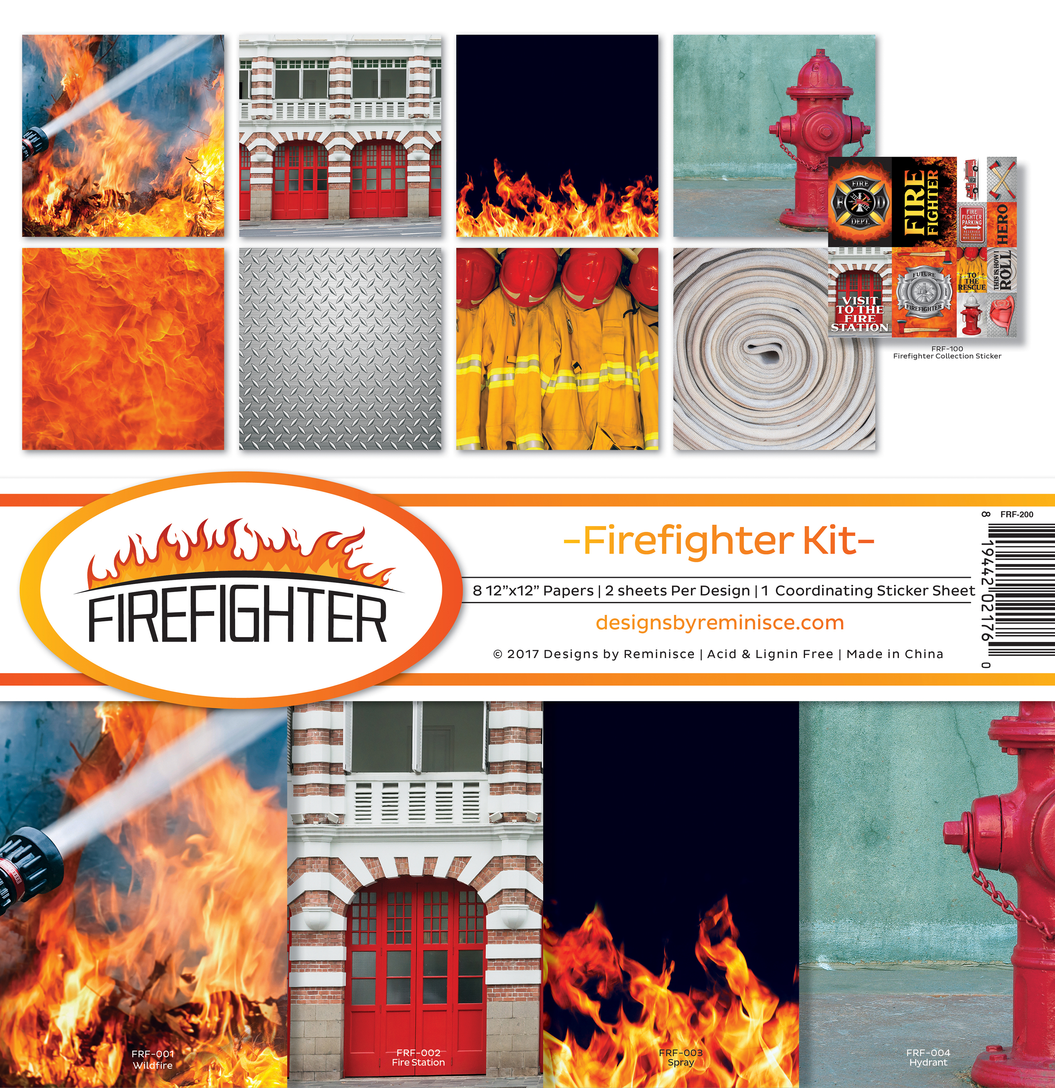 Reminisce Collection Kit 12X12-Firefighter