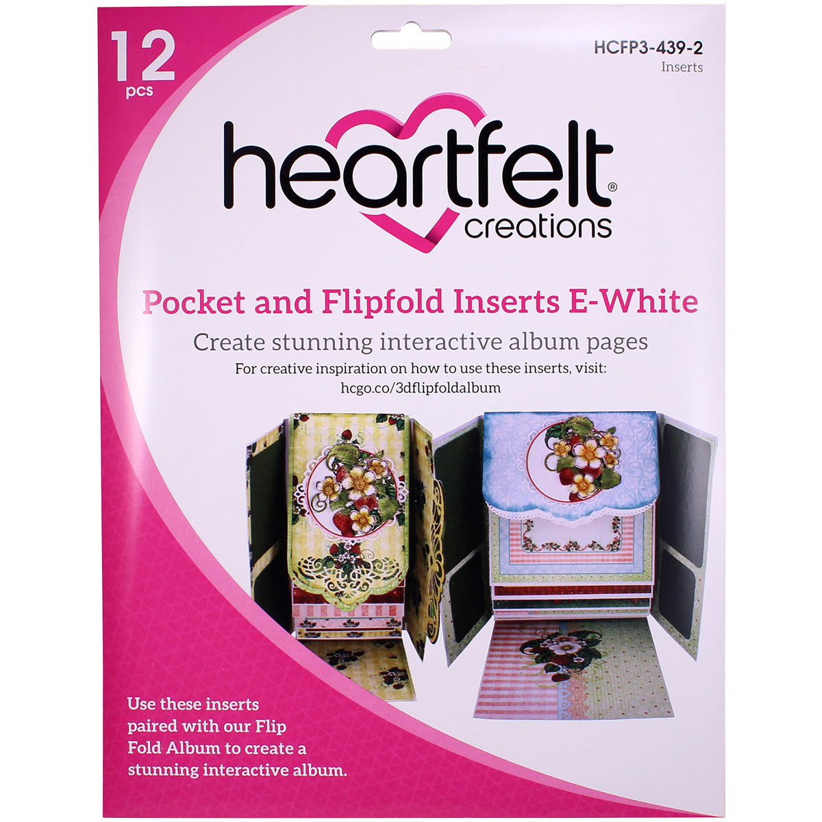 Pocket & Flip Fold Insert E - White