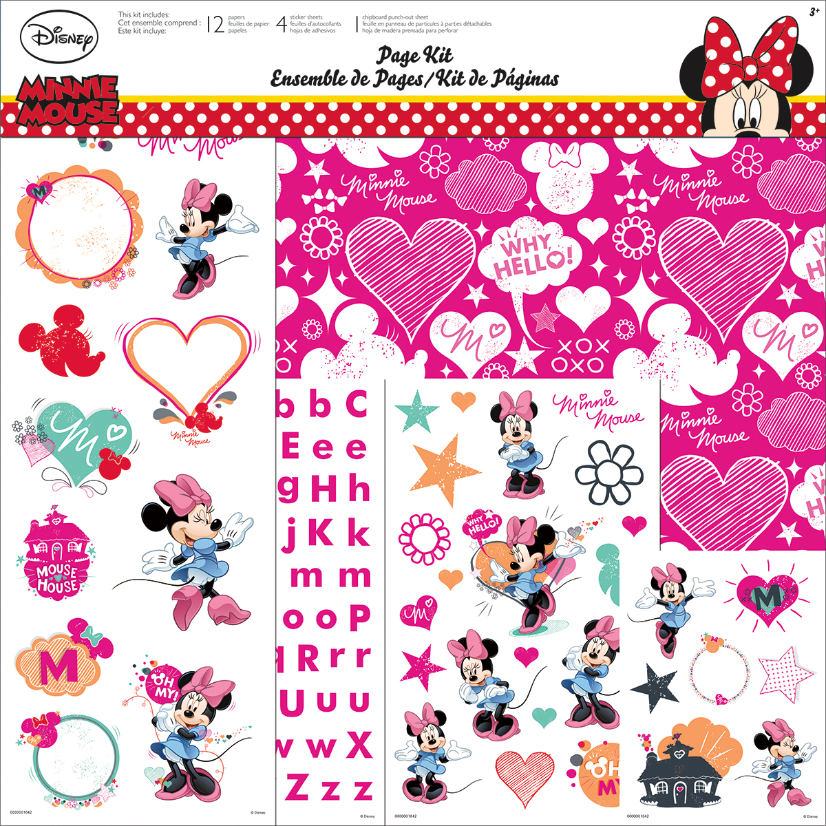 Trends Disney Page Kit 12X12-Minnie Mouse