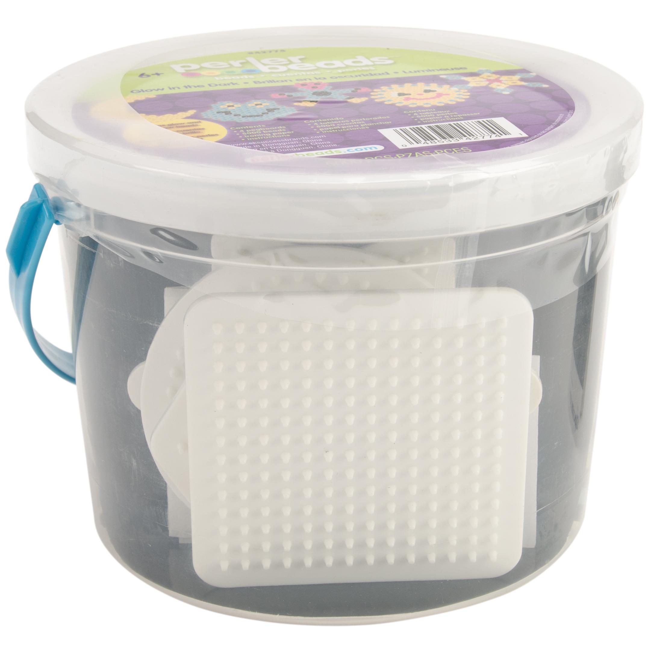 Perler Fused Bead Bucket Kit-Glow-In-The-Dark