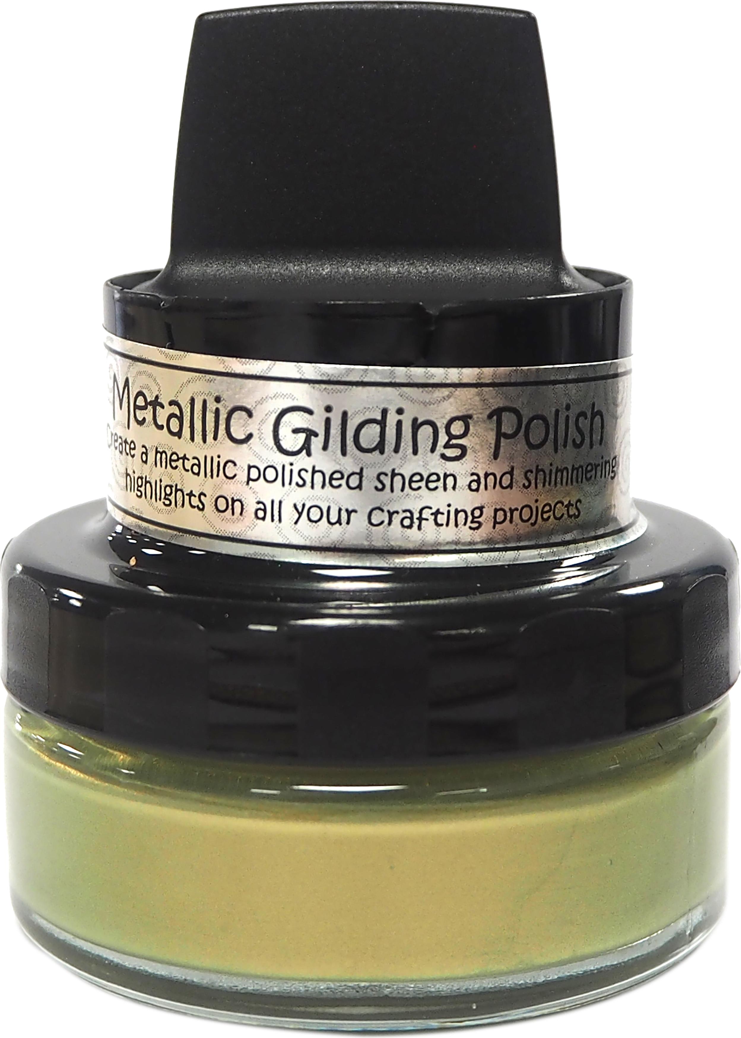 Cosmic Shimmer Metallic Gilding Polish Golden Olive