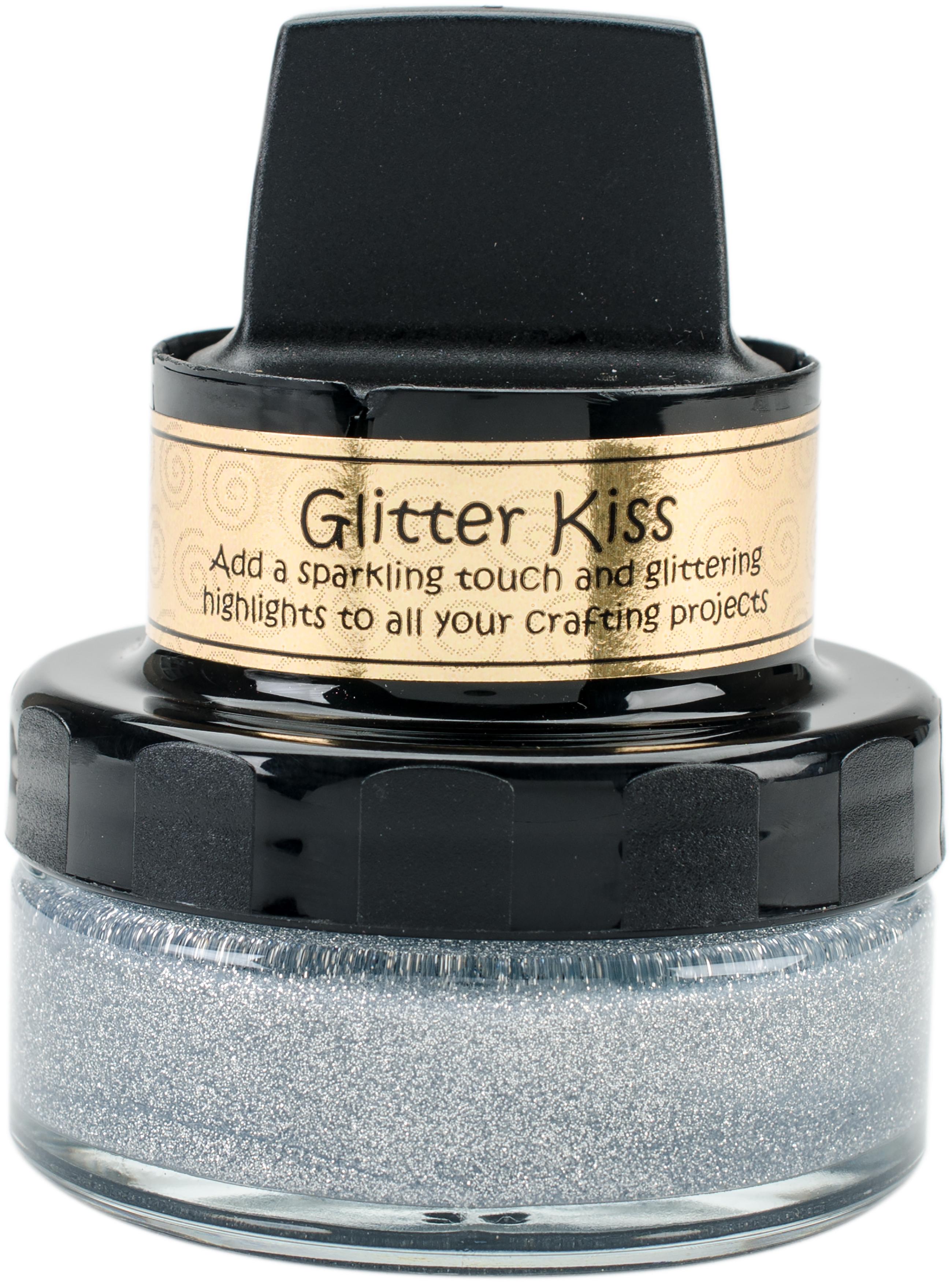 Cosmic Shimmer Glitter Kiss-Silver Chrome