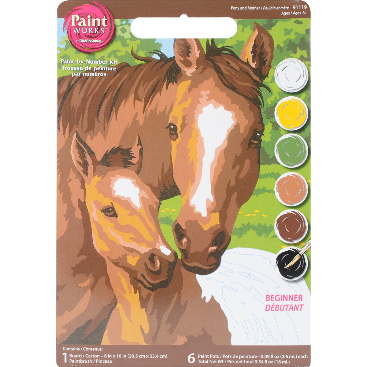 Paint Works Paint By Number Kit 8X10-Pony & Mother