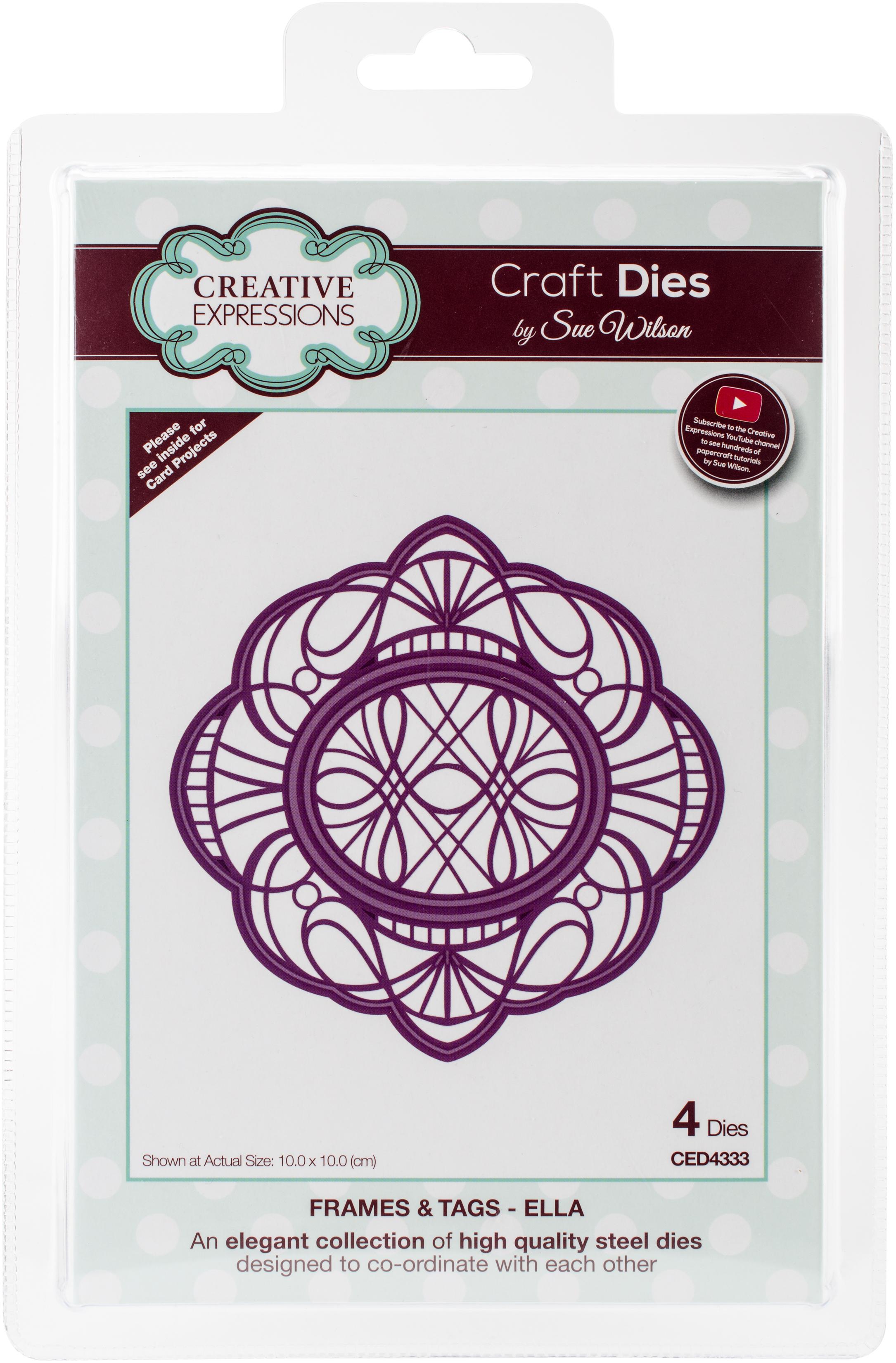 Creative Expressions Craft Dies By Sue Wilson-Frames & Tags-Ella 3.94X3.94
