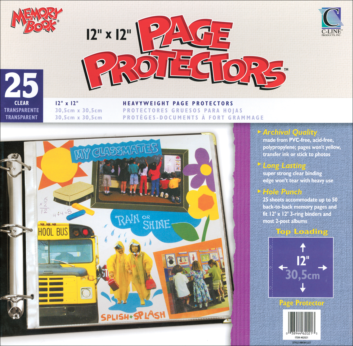 Memory Book Top-Loading Page Protectors 12X12 25/Pkg-